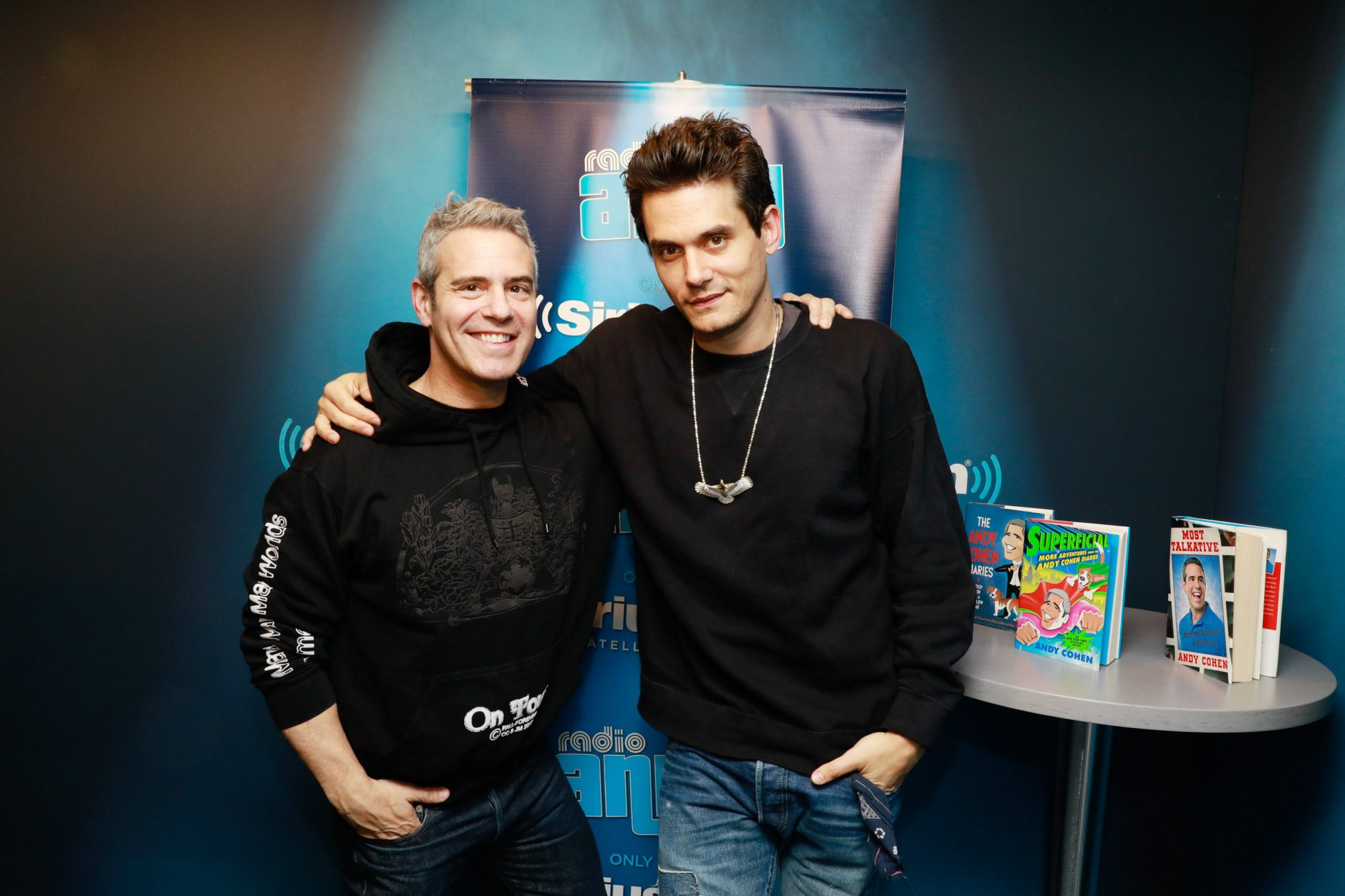John Mayer and Andy on Sirius XM