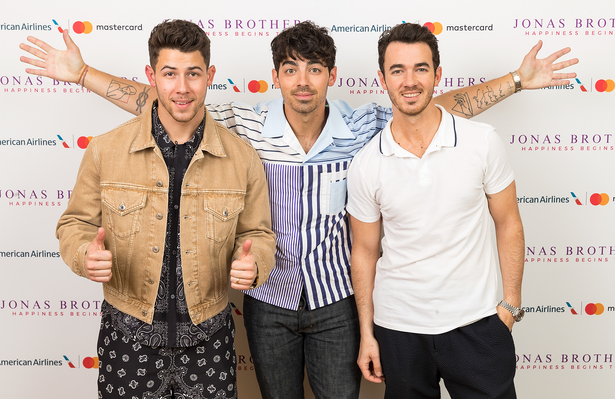 The Jonas Brothers Announce the Happiness Begins Tour presented by American Airlines and Mastercard, Las Vegas, USA - 30 Apr 2019