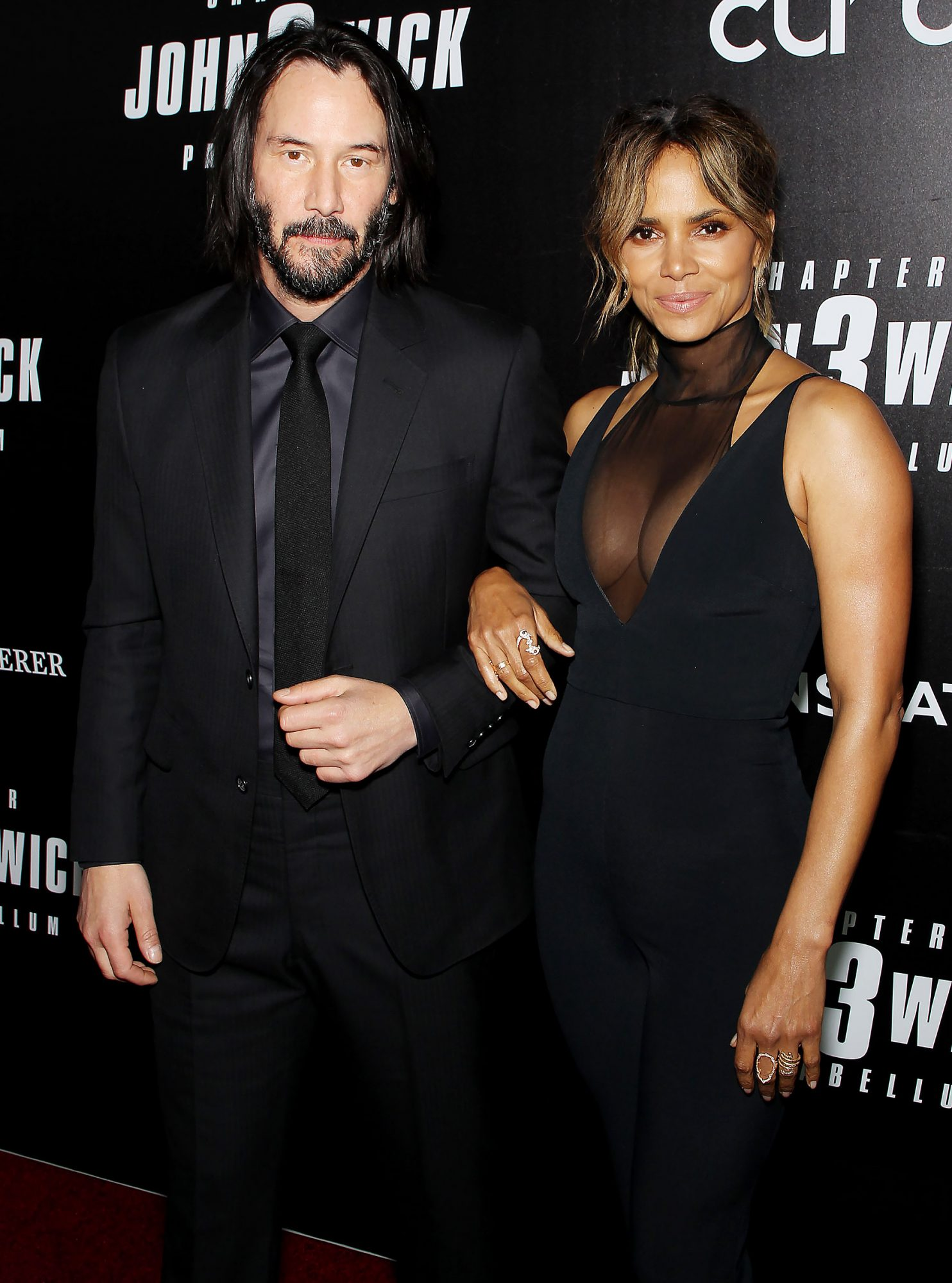 Keanu Reeves and Halle Berry