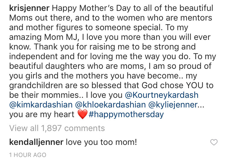 Kendall Jenner comment