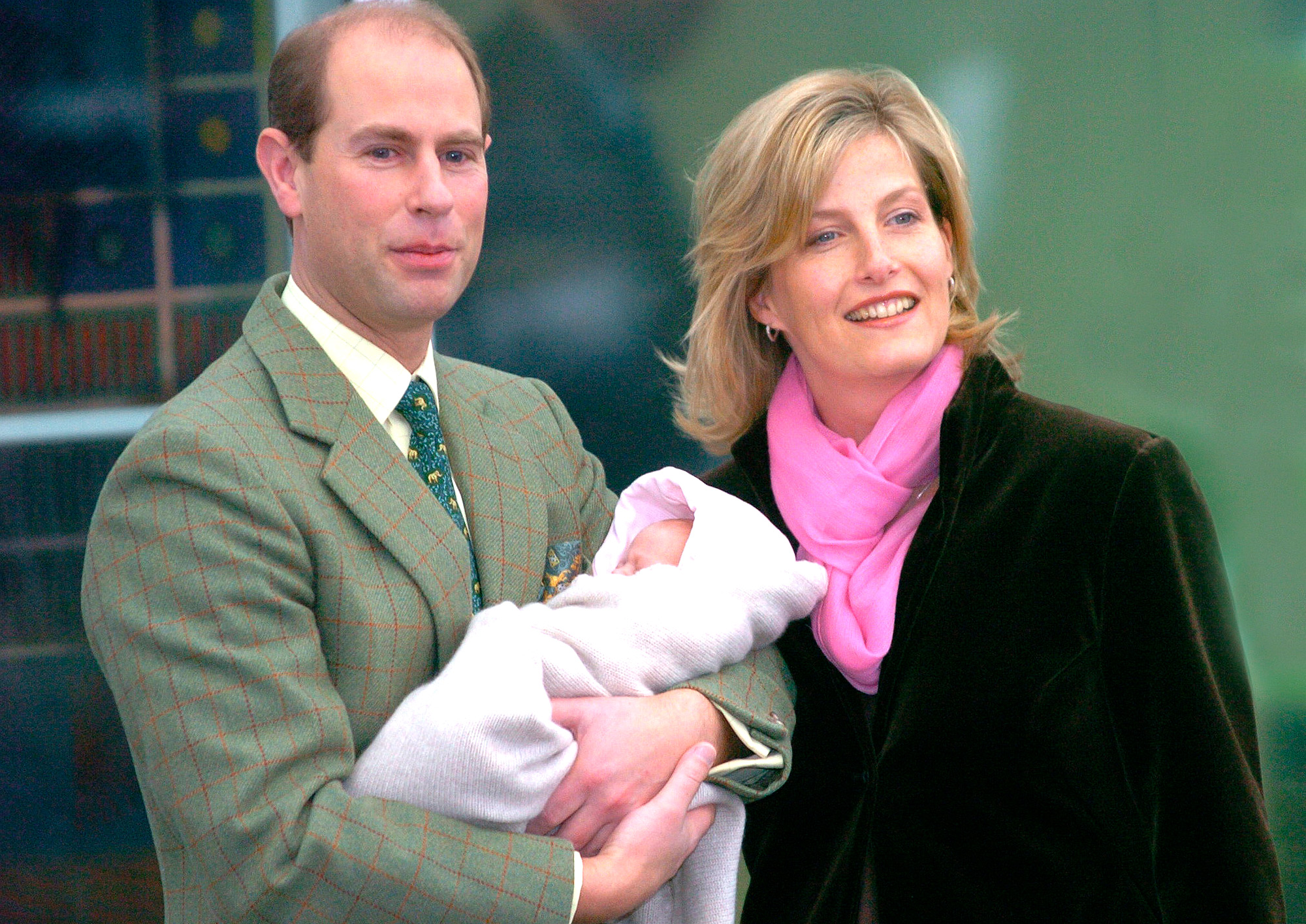 The Earl And Countess Of Wessex With Lady Louise Windsor