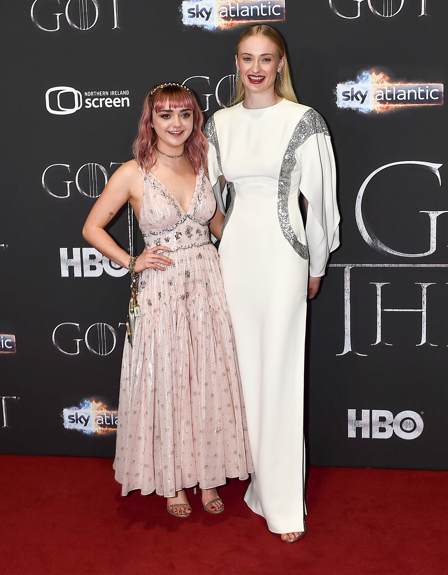 Maisie Williams and Sophie Turner