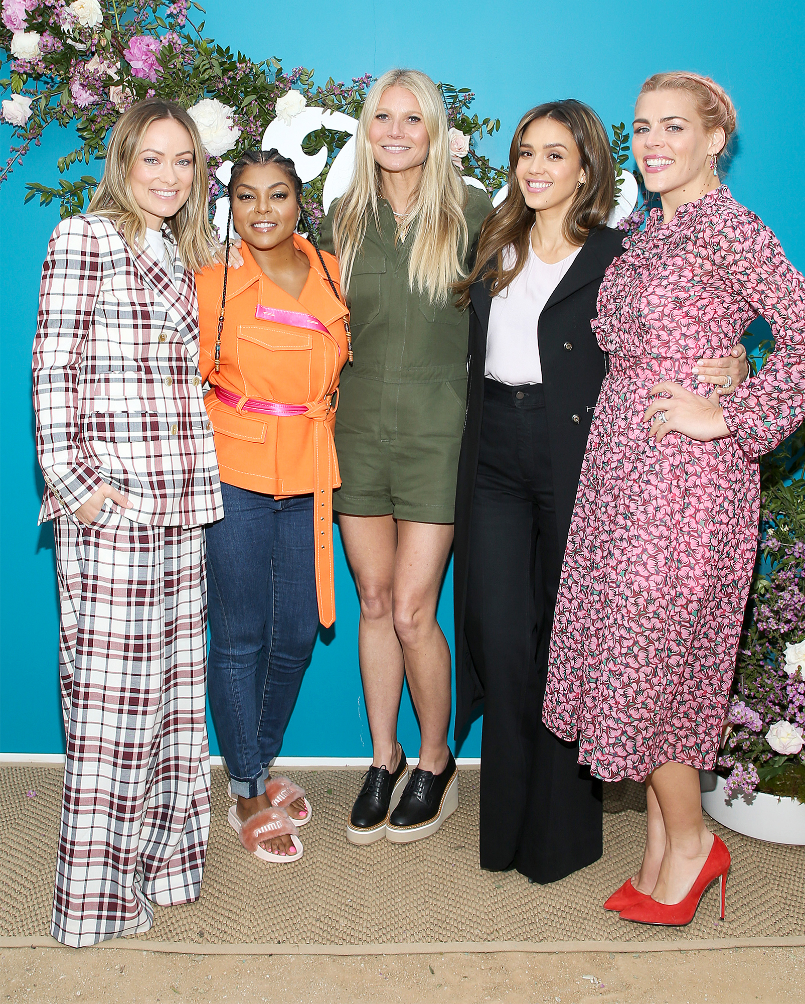 Olivia Wilde, Taraji P. Henson, goop CEO Gwyneth Paltrow, Jessica Alba and Busy Philipps