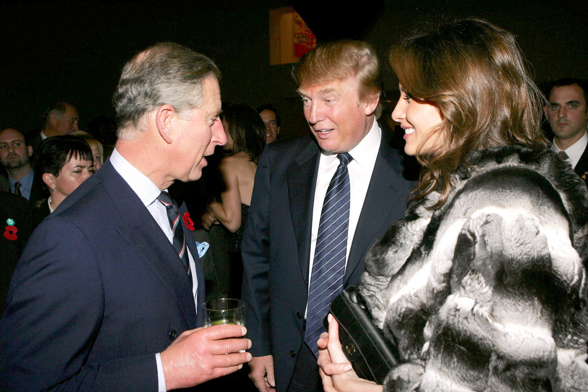 Prince Charles with Donald and Melania Trump