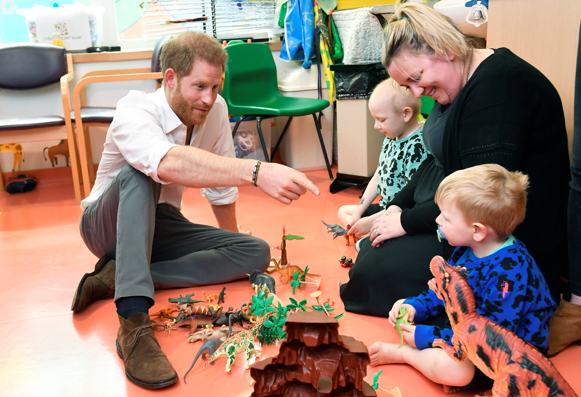 Prince Harry at Oxford Children's Hospital