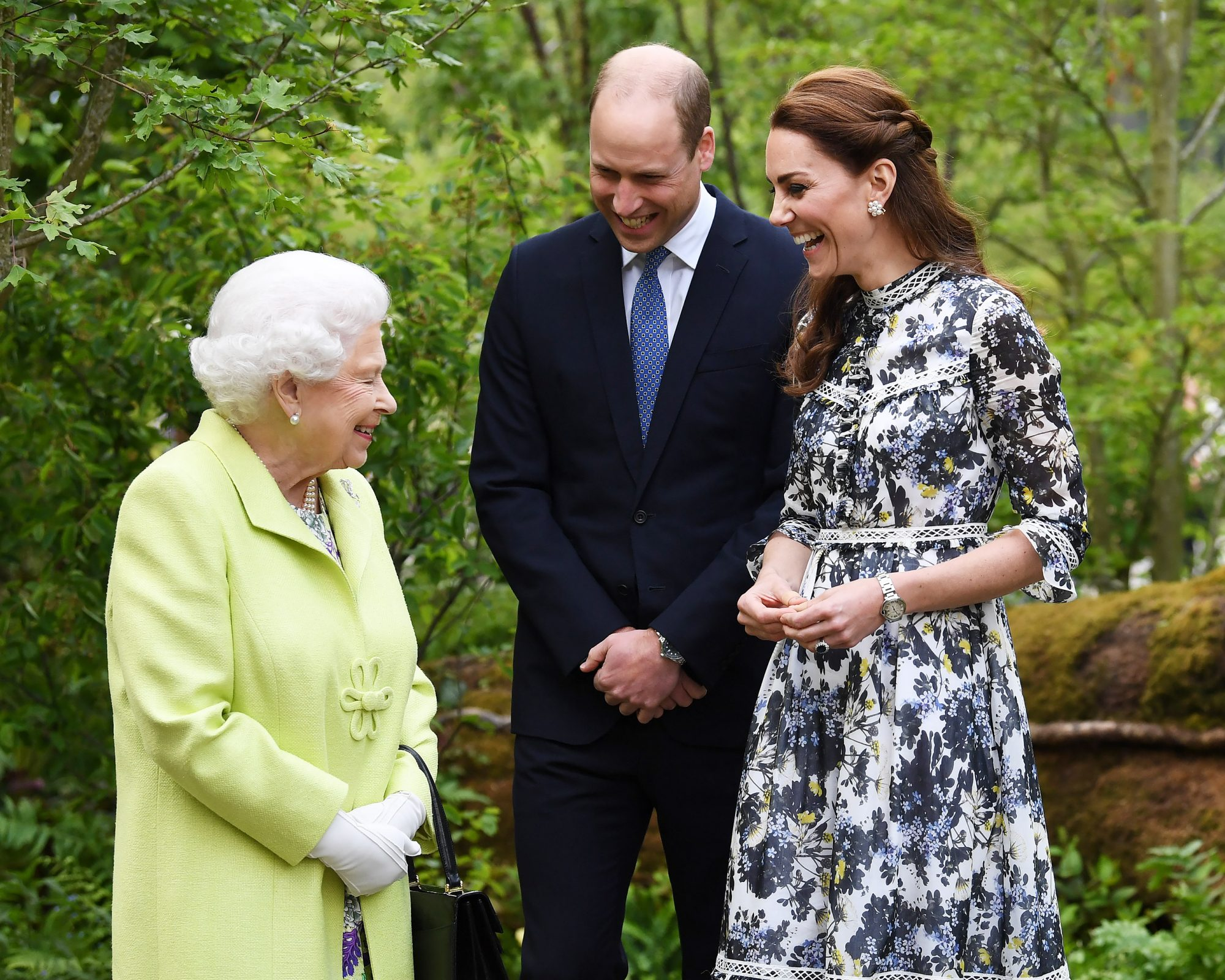 Kate Middleton Shows Queen Elizabeth Her New Garden: See the Queen and Future Queen Together!