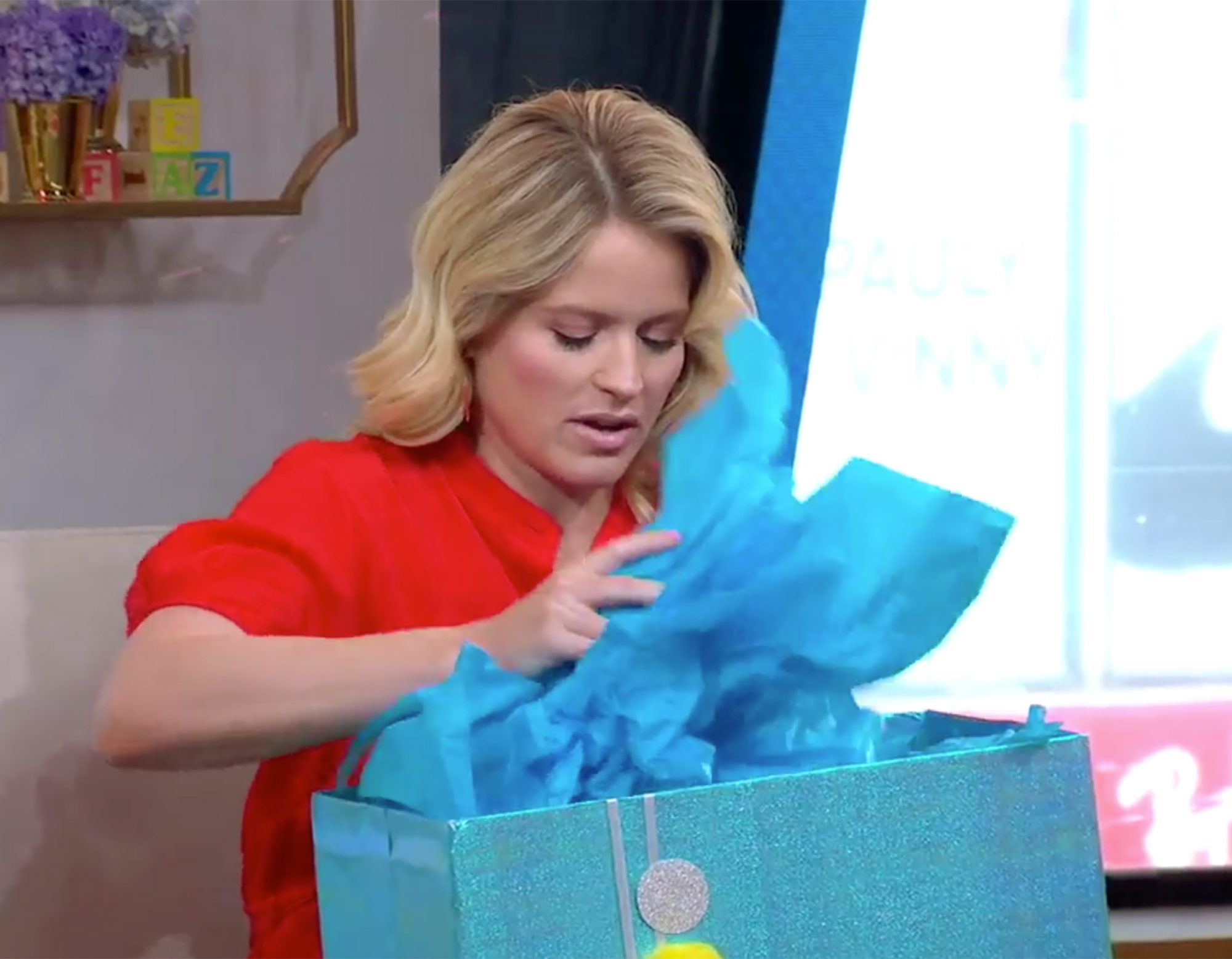 Sara Haines Receives Surprise Baby Shower From Co-Host Michael Strahan