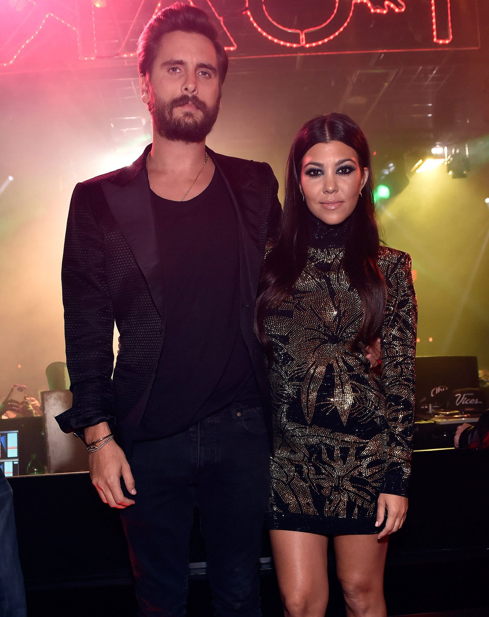 Scott Disick Celebrates His Birthday at 1 OAK Nightclub Las Vegas at The Mirage Hotel & Casino