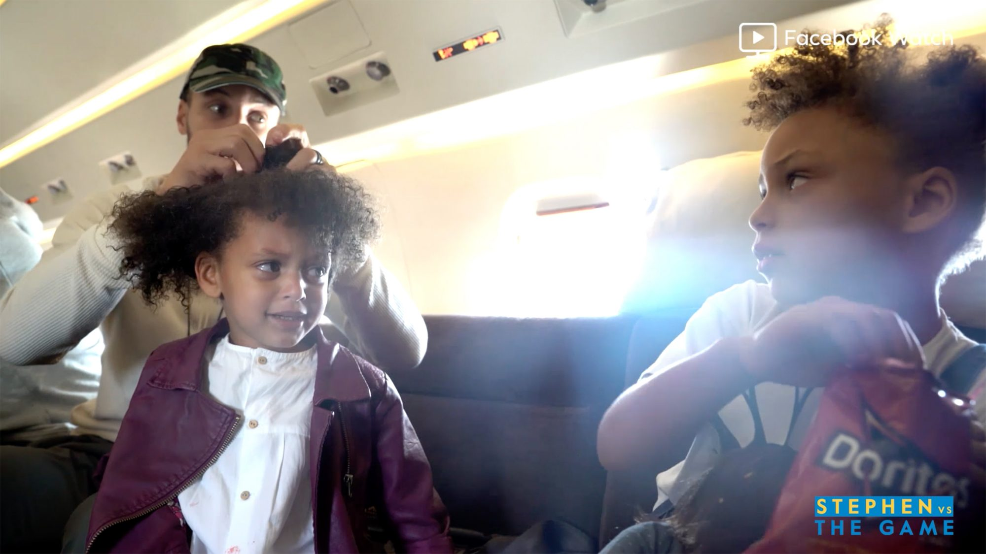 Steph Curry Does Daughter Ryan's Hair as She Adorably Asks Big Sister Riley to Share Her Chips