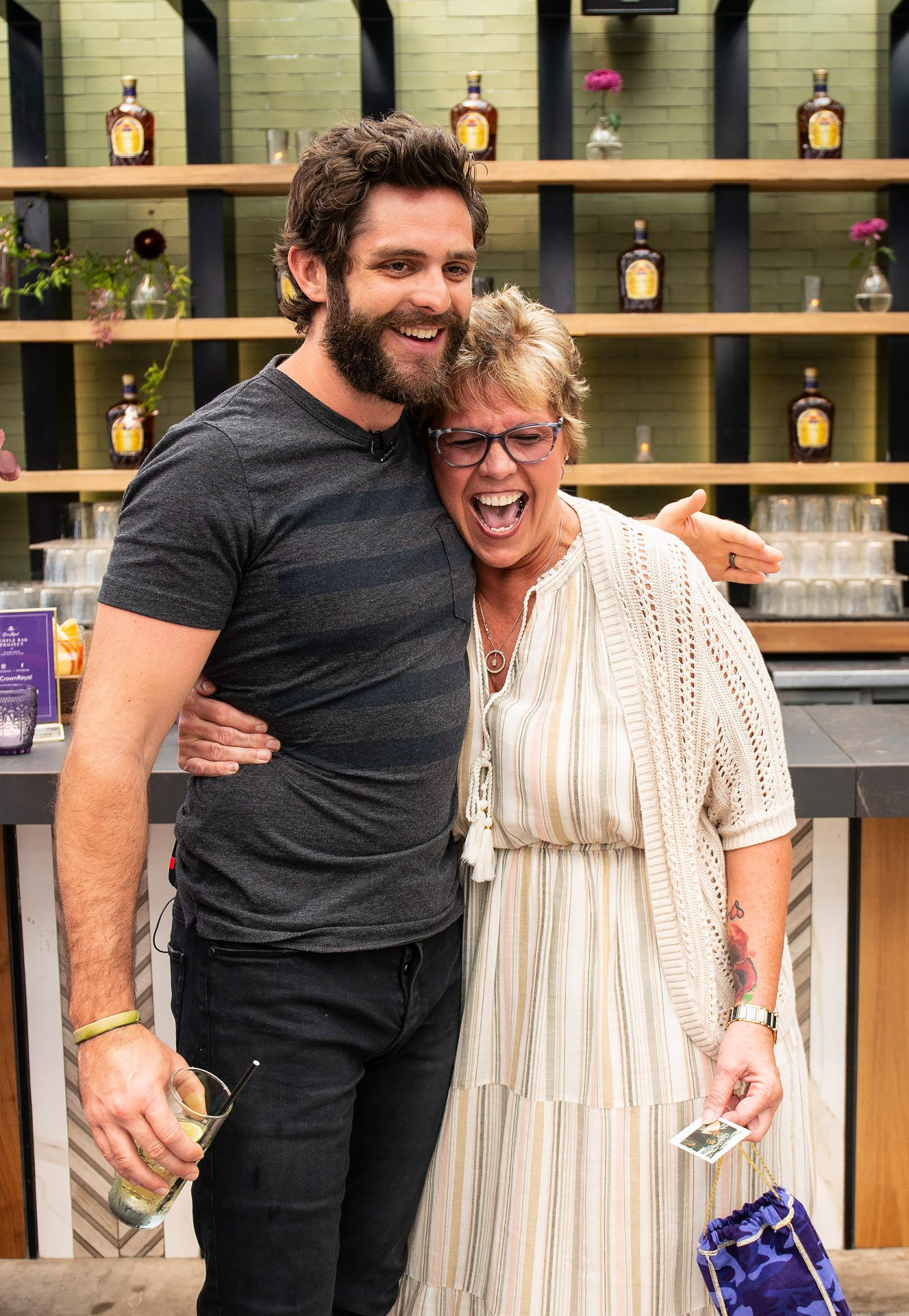 The Purple Bag Project – Mother's Day Brunch with Thomas Rhett in Fort Lauderdale, FL, Saturday, April 13, 2019. (Photo by Jack Dempsey for Crown Royal)