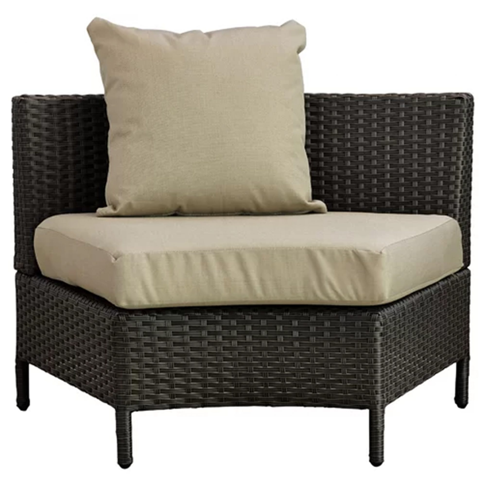 Mercury Ray Dowd 5 Piece Rattan Sectional Set with Cushions