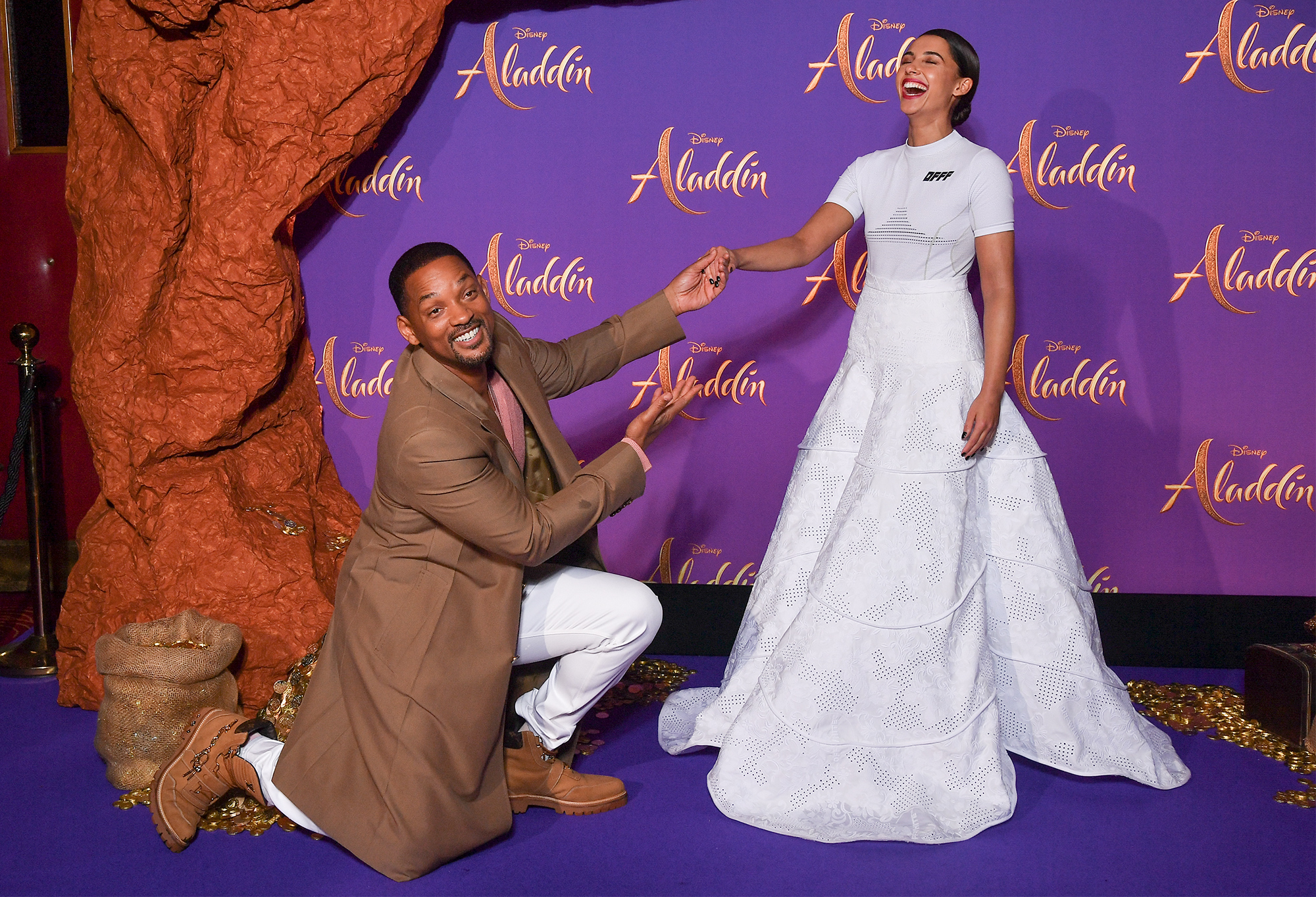 Will Smith and Naomi Scott