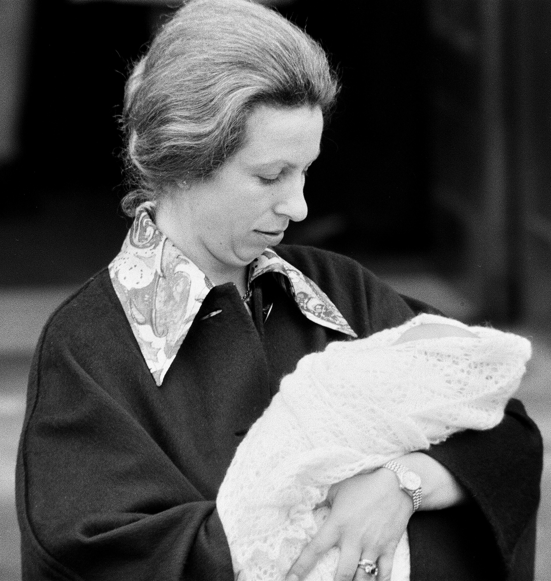 Her Royal Highness Anne leaves St Mary's Hospital in Paddington, London, after the birth of her baby daughter Princess Zara