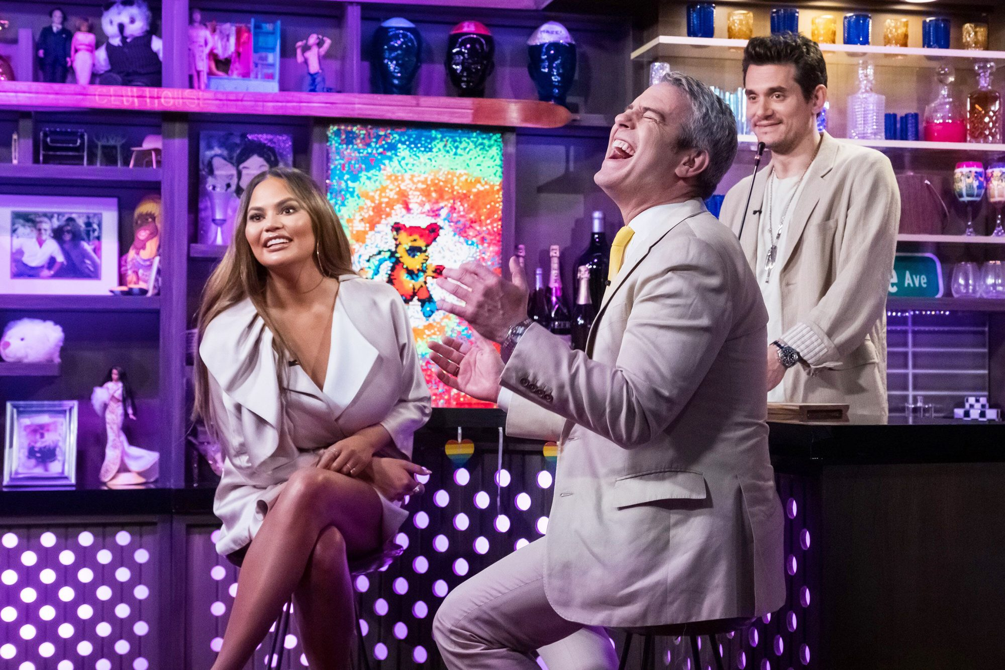 Chrissy Teigen, Andy Cohen, and John Mayer on Watch What Happens Live