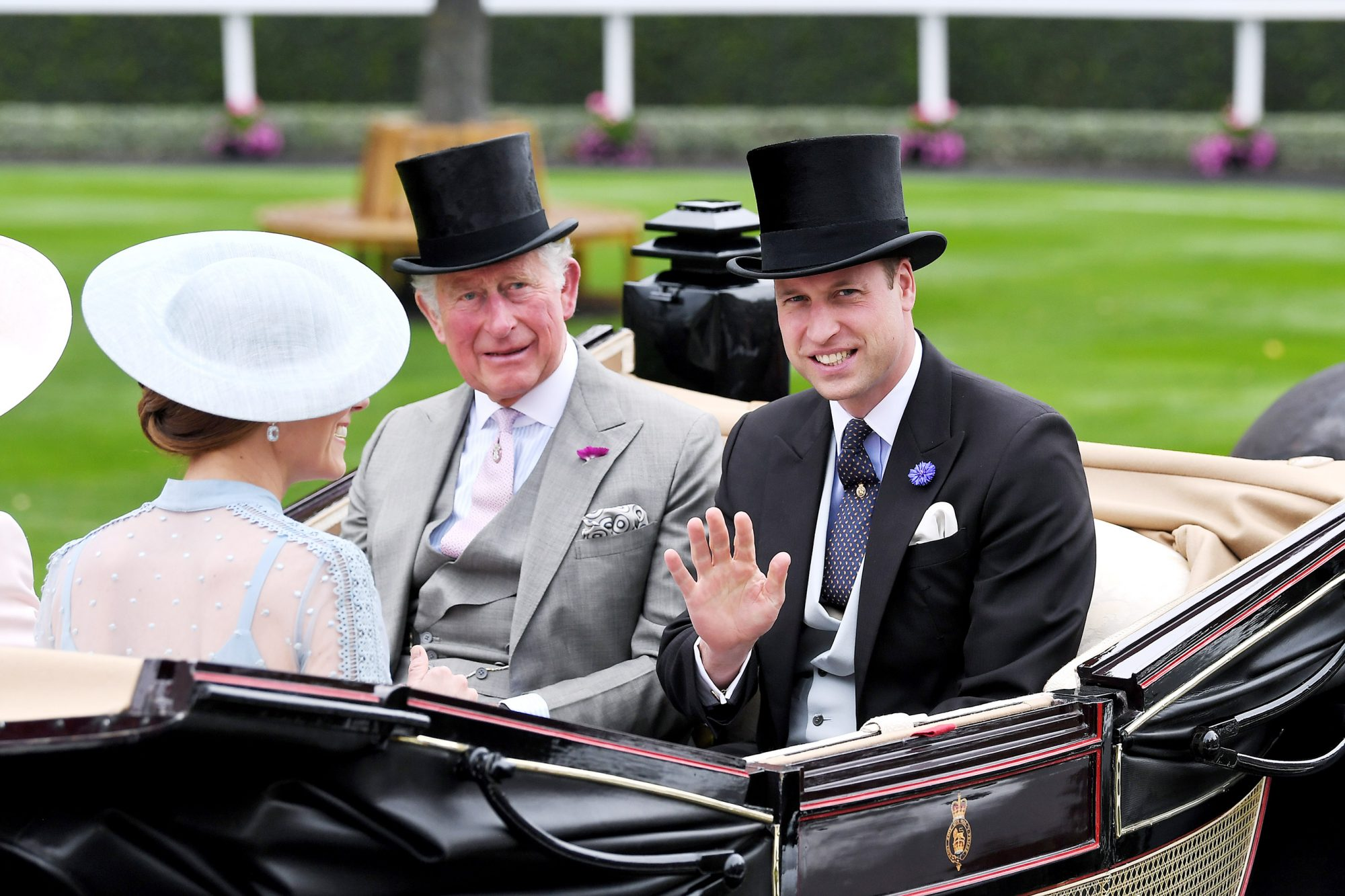 Prince Charles and Prince William Royal Ascot