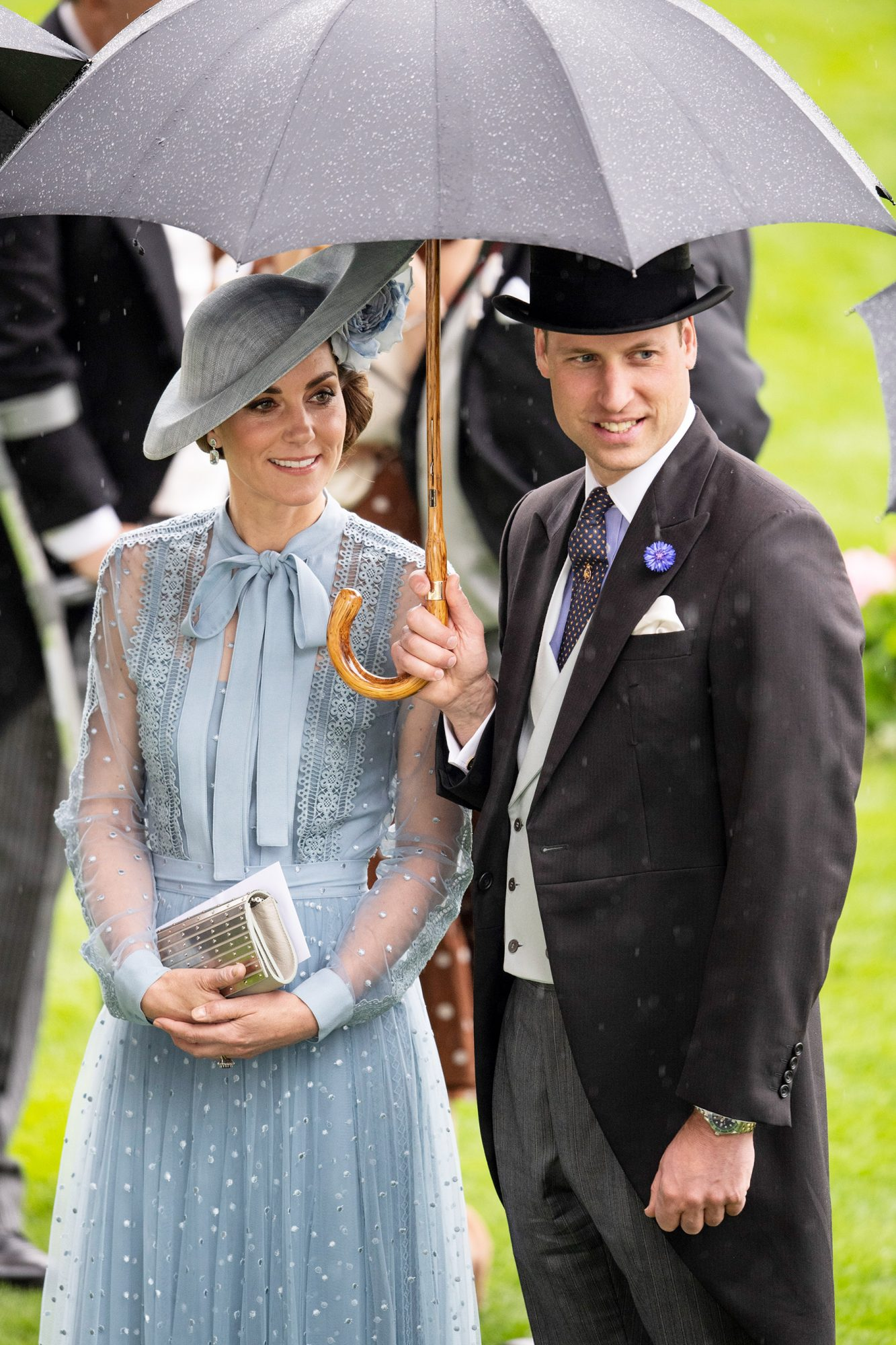 Prince William, Duke of Cambridge and Catherine, Duchess of Cambridge on Day One of Royal Ascot