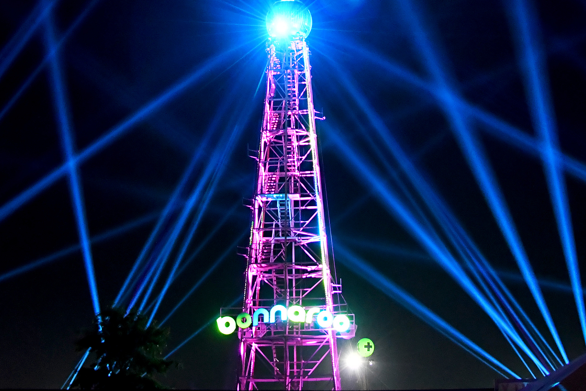 Bonnaroo tower is seen during the 2019 Bonnaroo Arts And Music Festival on June 13, 2019