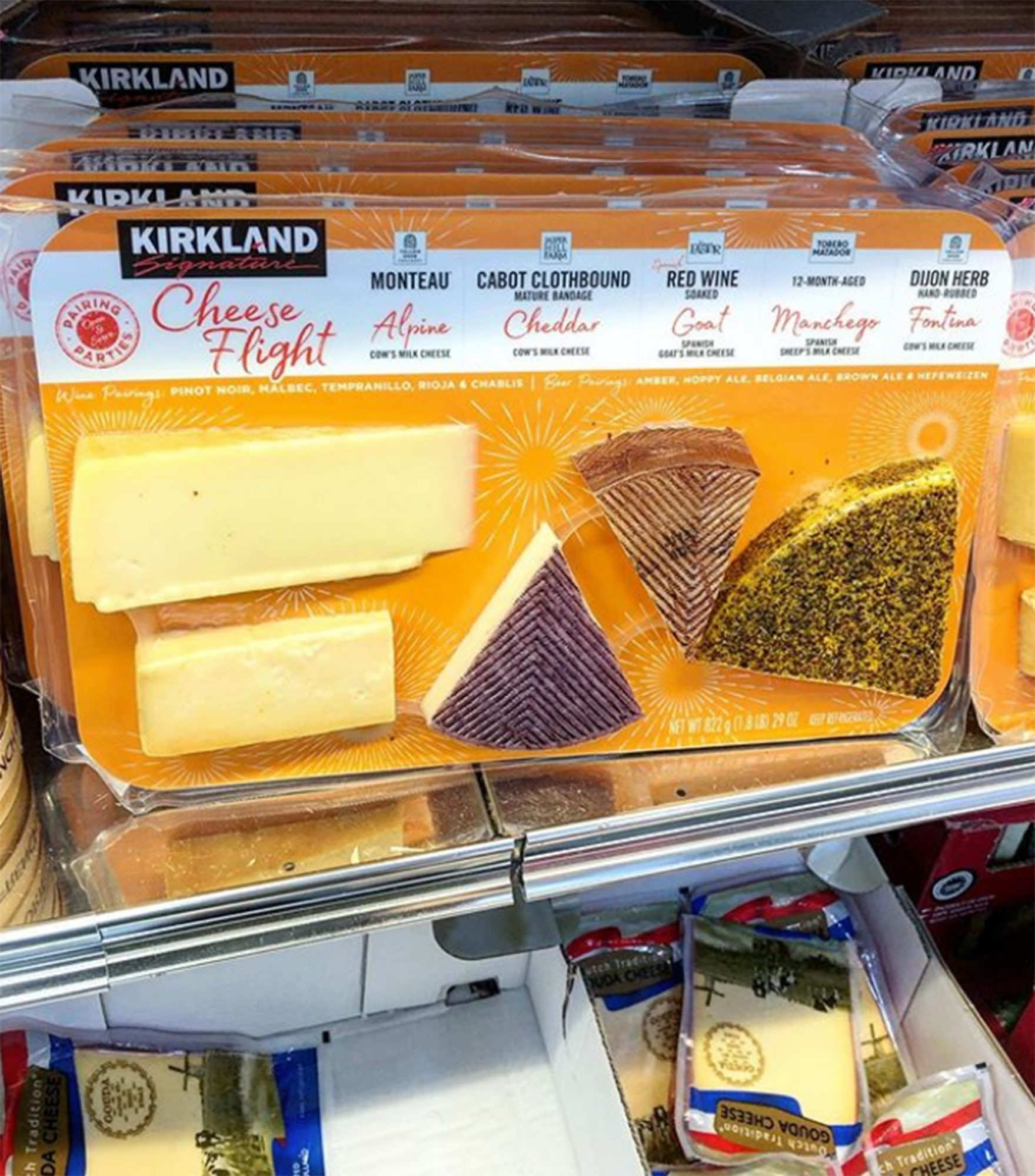 Costco cheese flight