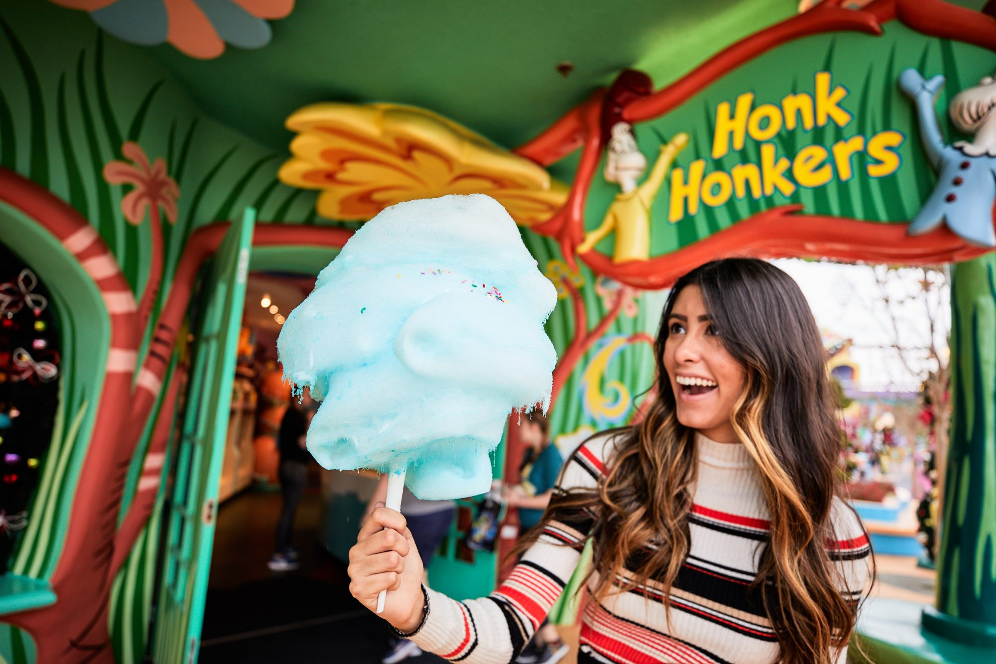Dr. Seuss Cotton Candy at Honk Honkers in Islands of Adventure, Universal Orlando Resort