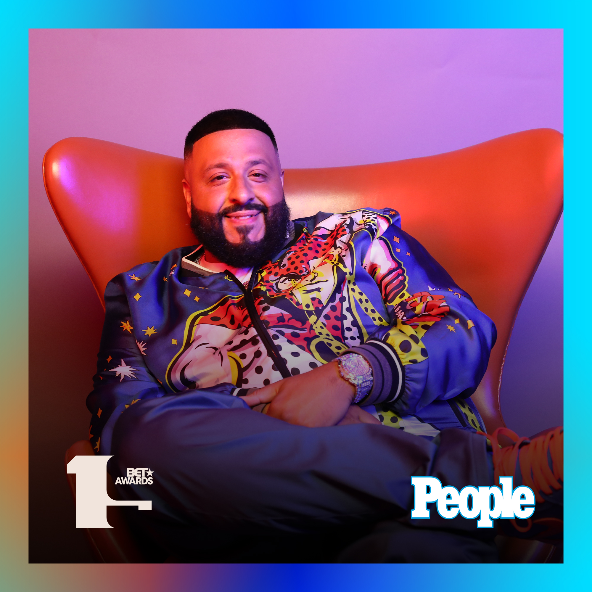 DJ Khaled photographed at the 2019 BET Awards by Bennett Raglin exclusively for PEOPLE Credit: Bennett Raglin