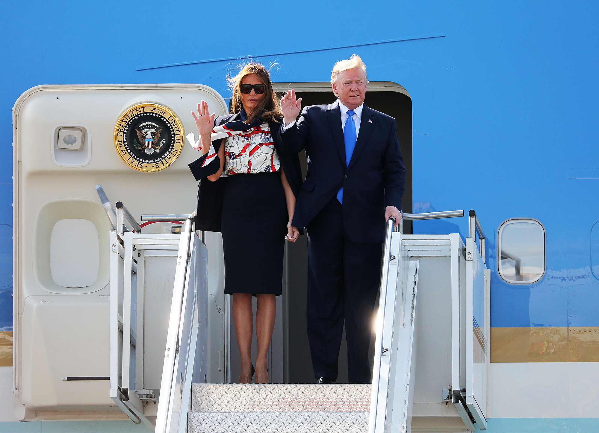 Donald Trump and US First Lady Melania Trump