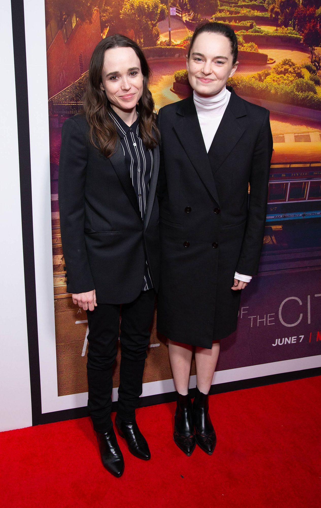Ellen Page and Emma Portner