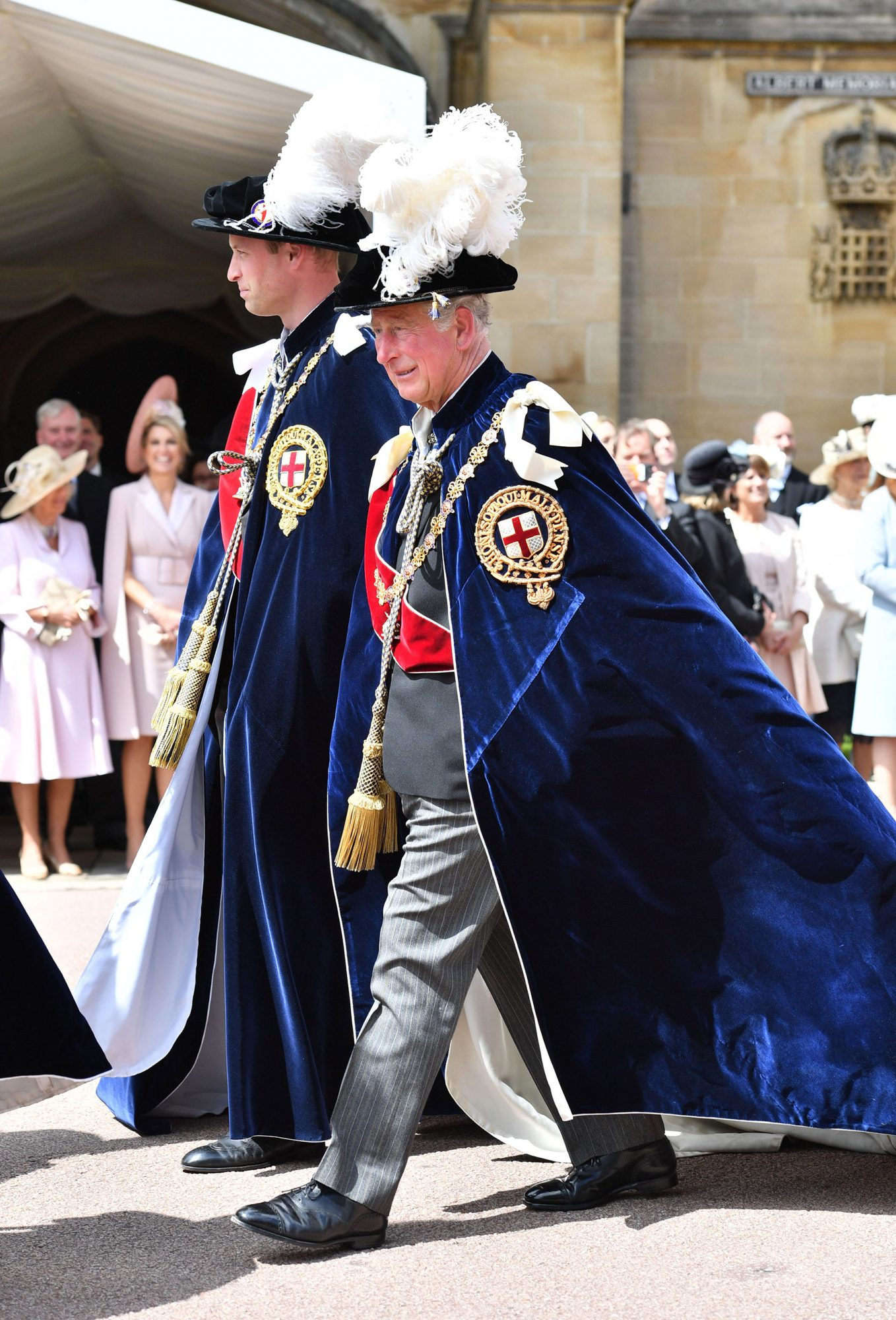 Prince William, Prince Charles Order of the Garter