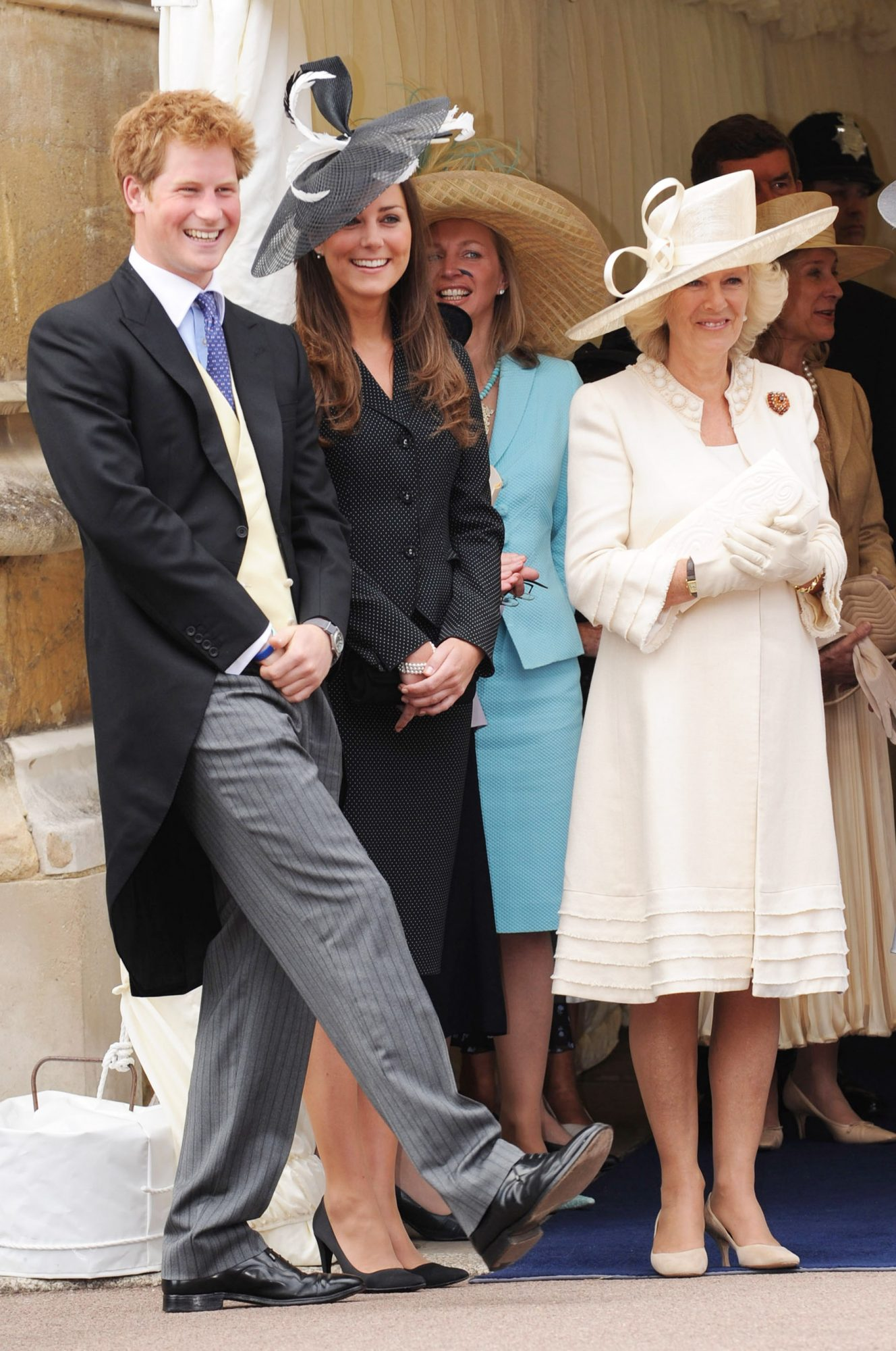 Prince Harry, Prince William's girlfriend Kate Middleton and Camilla, Duchess of Cornwall