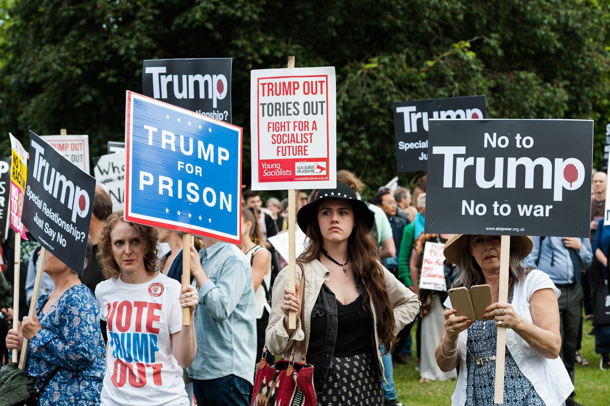 Protest Against Donald Trump's State Banquet in London