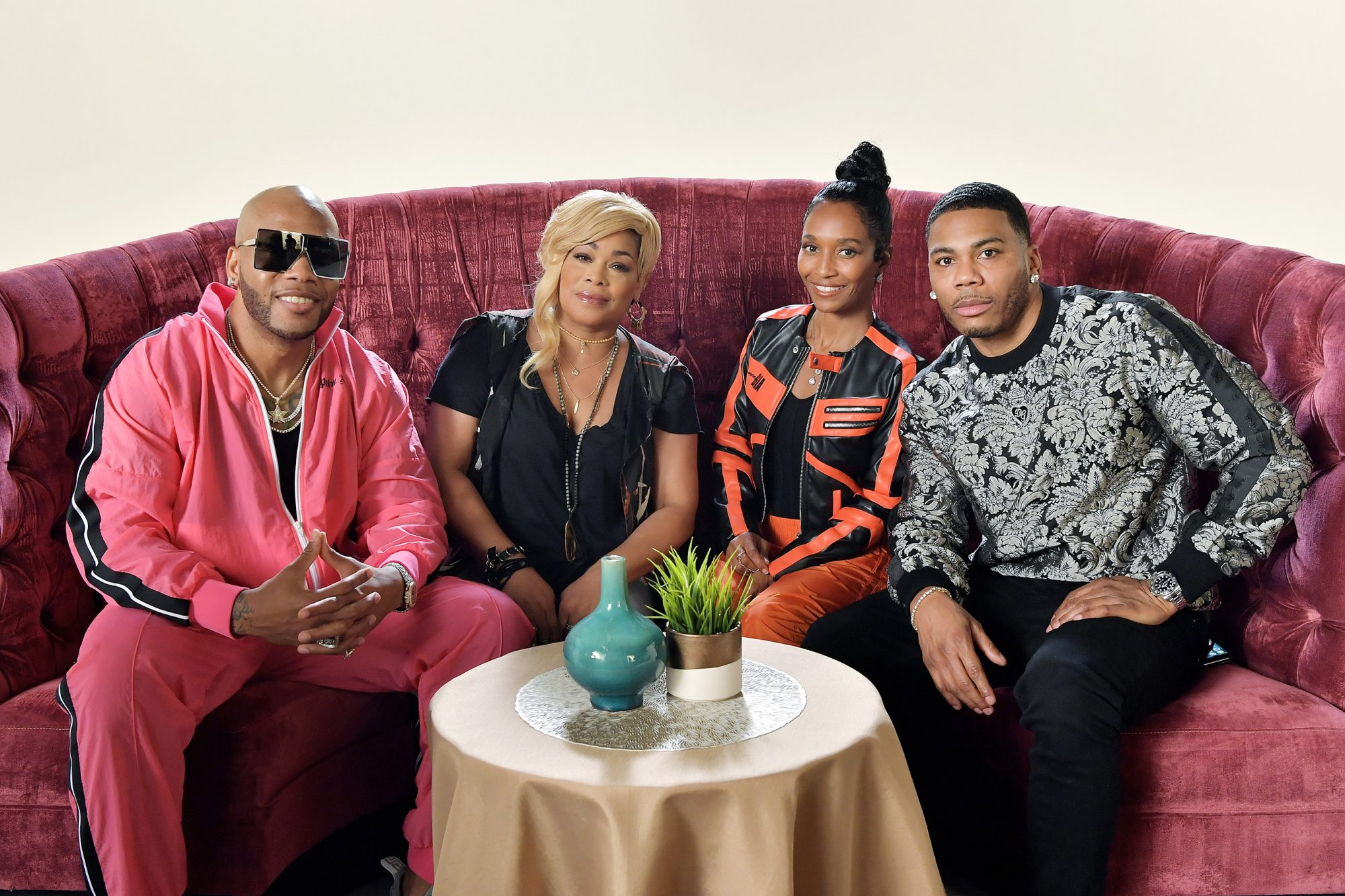 Flo Rida, T-Boz and Chilli from TLC and Nelly