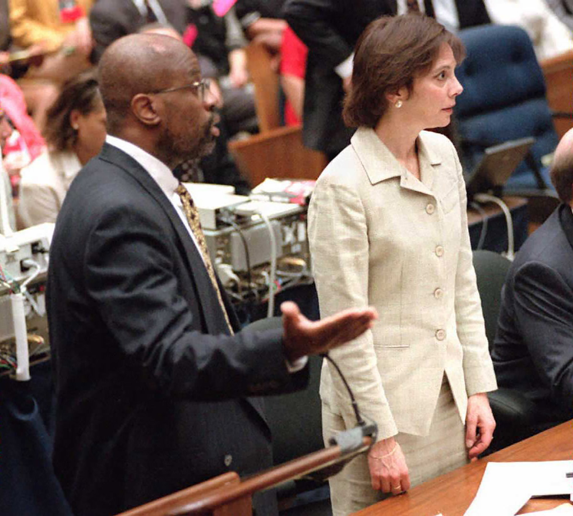 Christopher Darden and Marcia Clark