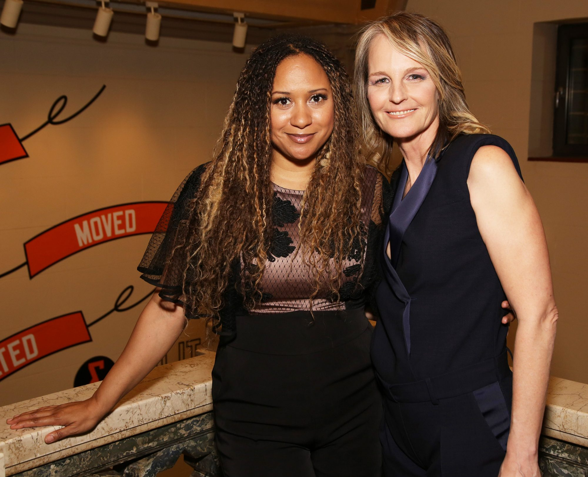 Tracie Toms and Helen Hunt