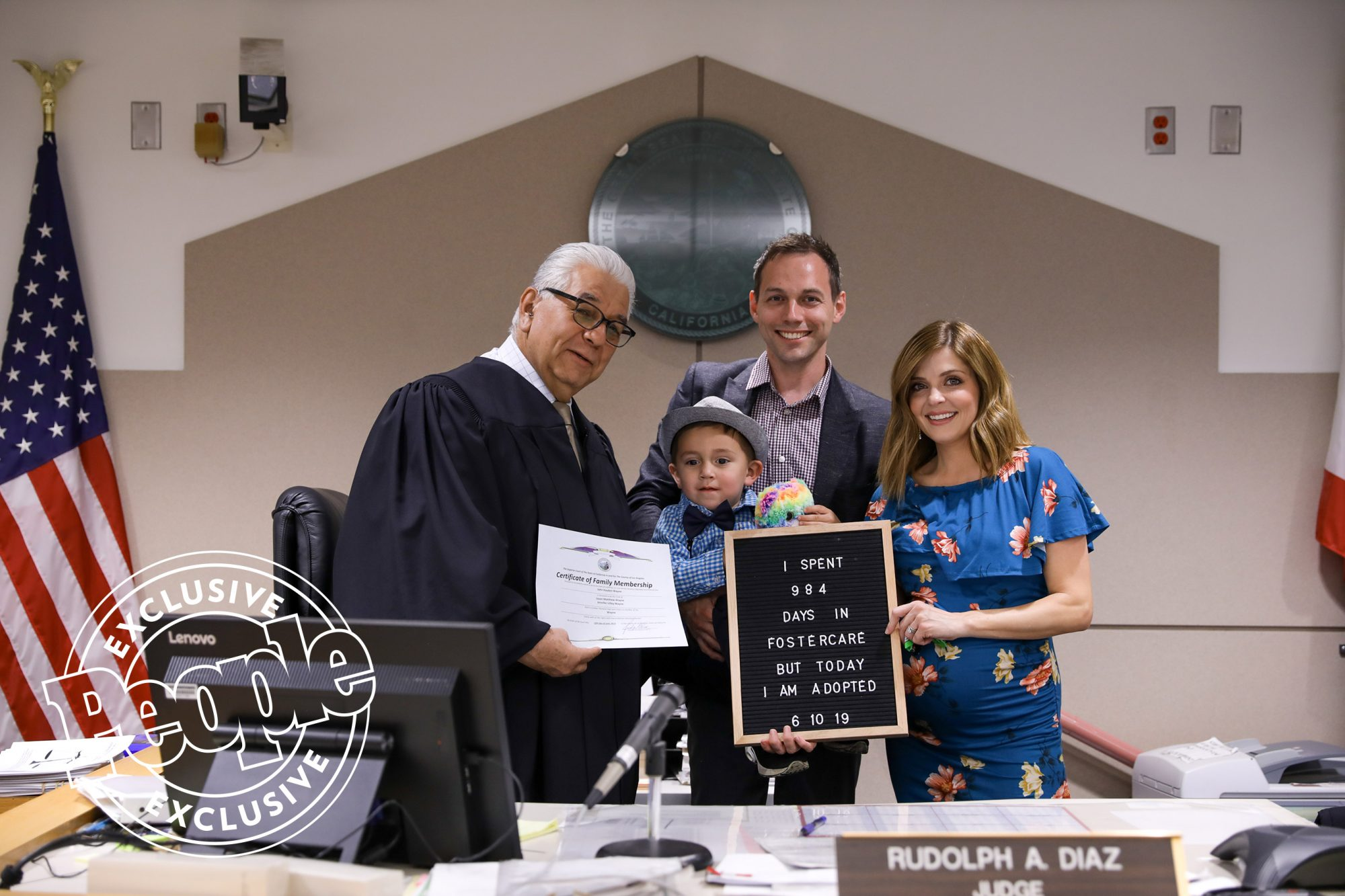 Jen Lilley celebrated the adoption of her son