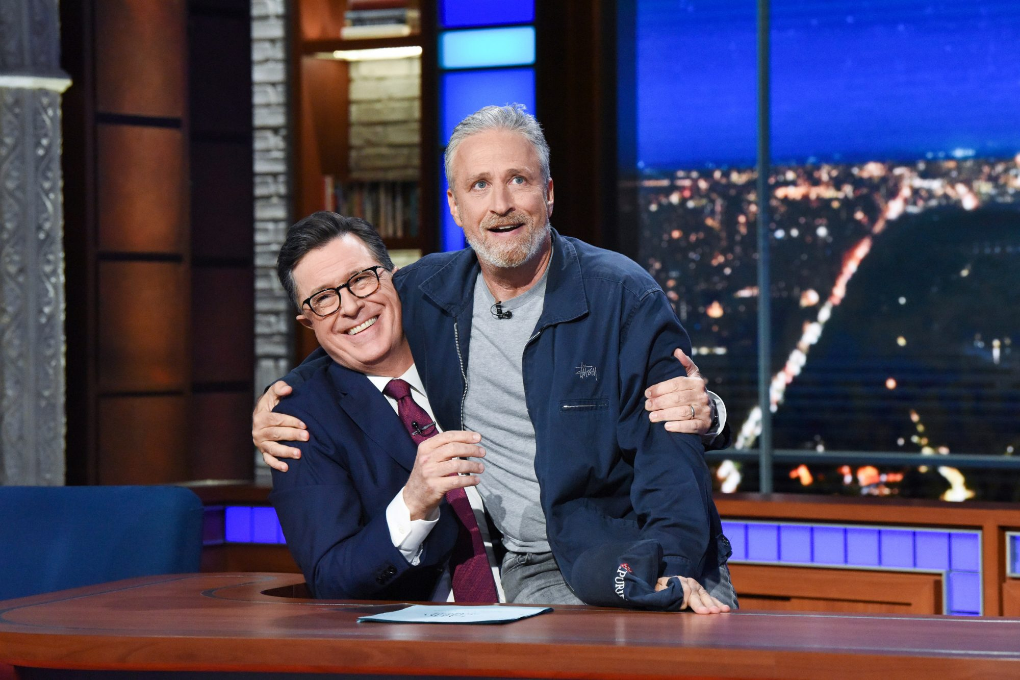 Late Show with Stephen Colbert and guest Jon Stewart