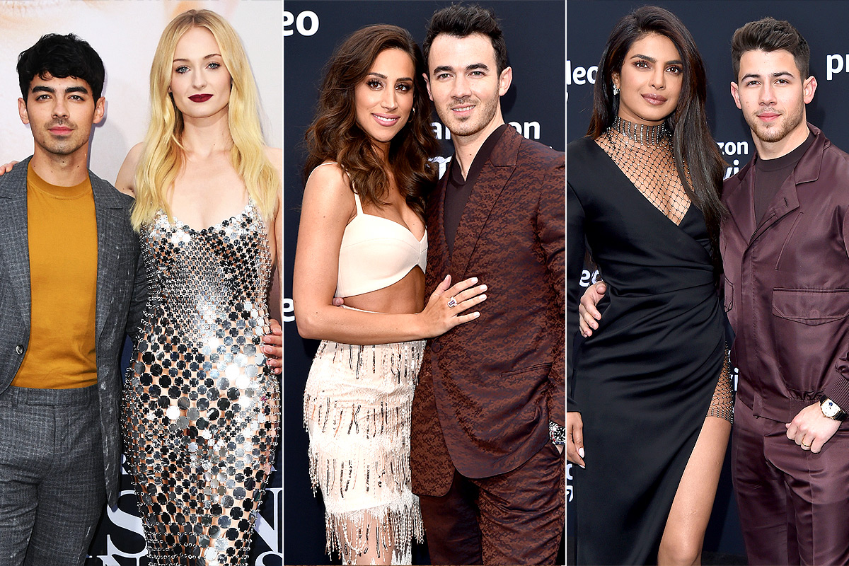 Joe Jonas and Sophie Turner and Danielle Jonas and Kevin Jonas and Priyanka Chopra and Kevin Jonas