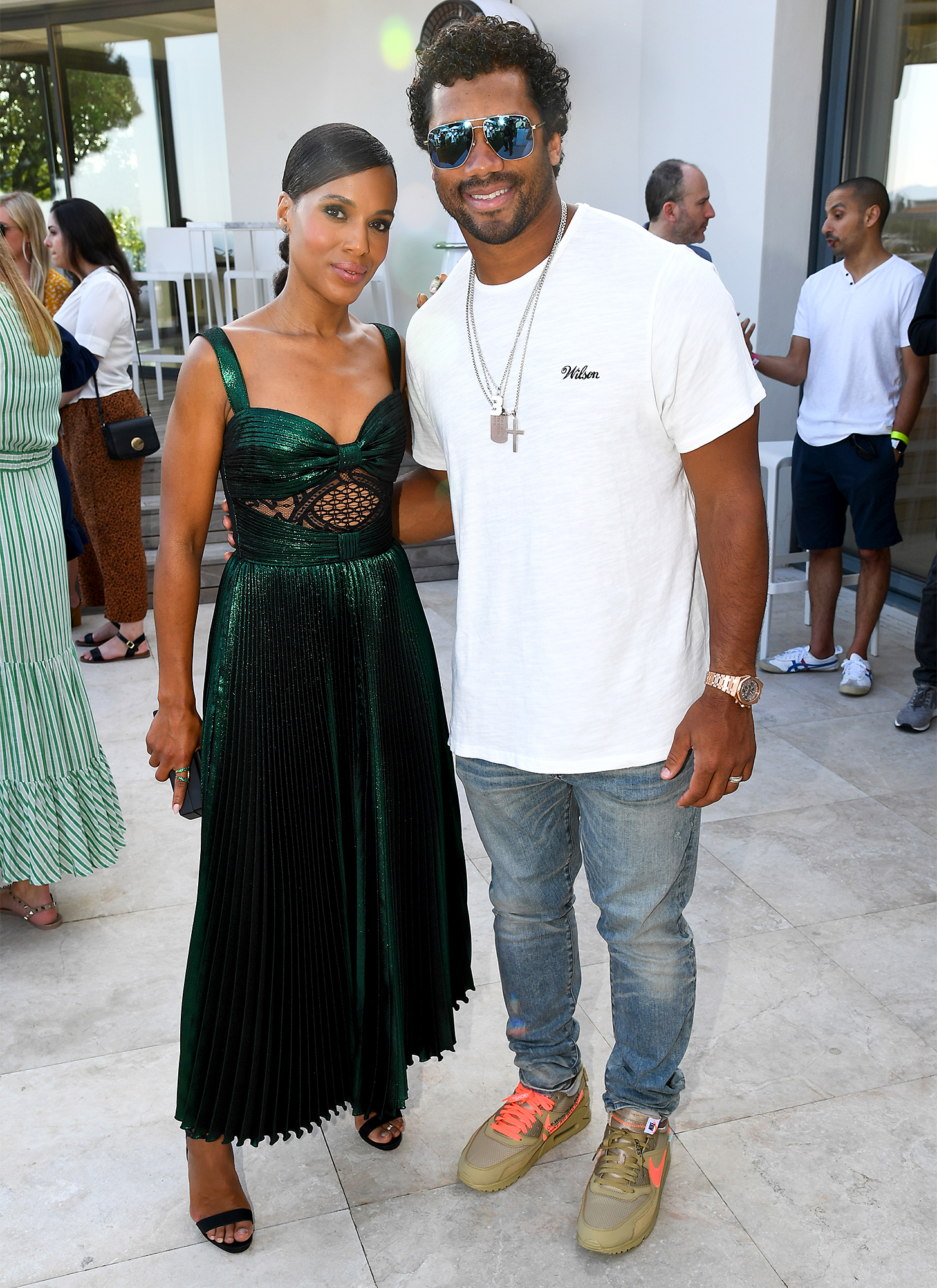 Kerry Washington and Russell Wilson