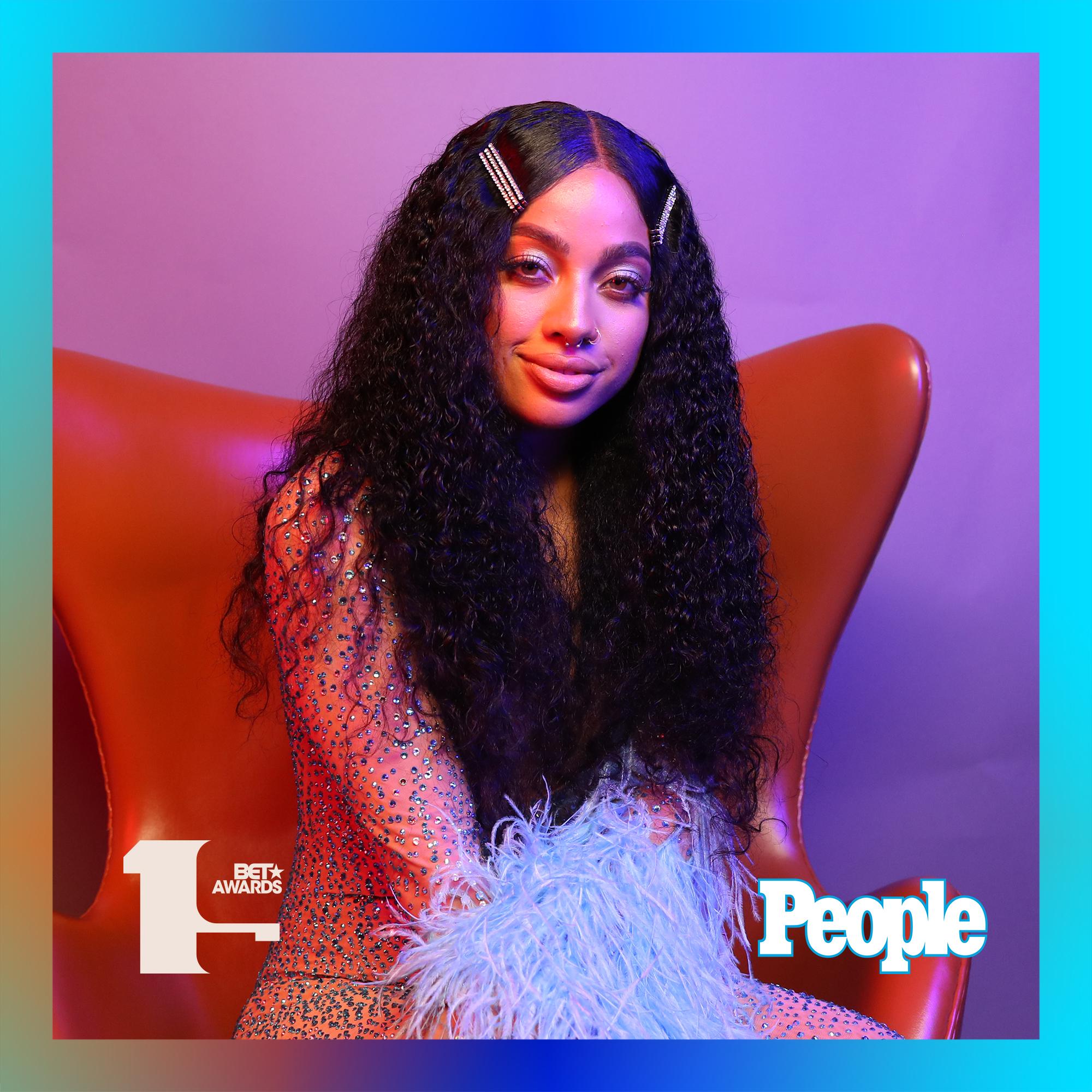 Kiana Lede photographed at the 2019 BET Awards by Bennett Raglin exclusively for PEOPLE Credit: Bennett Raglin