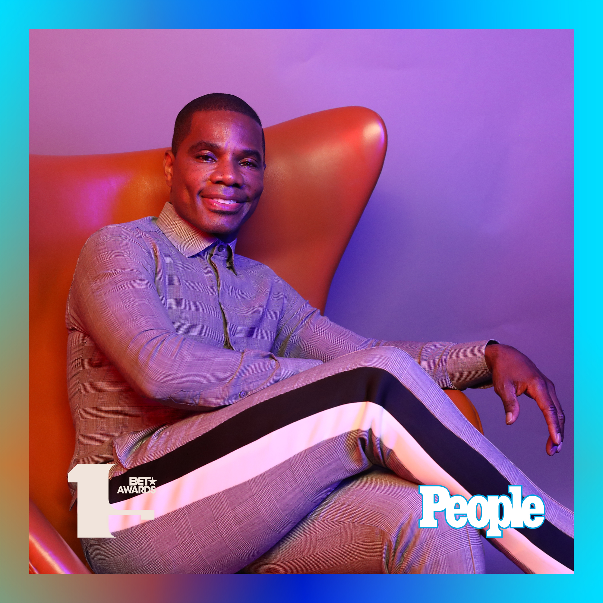 Kirk Franklin photographed at the 2019 BET Awards by Bennett Raglin exclusively for PEOPLE Credit: Bennett Raglin