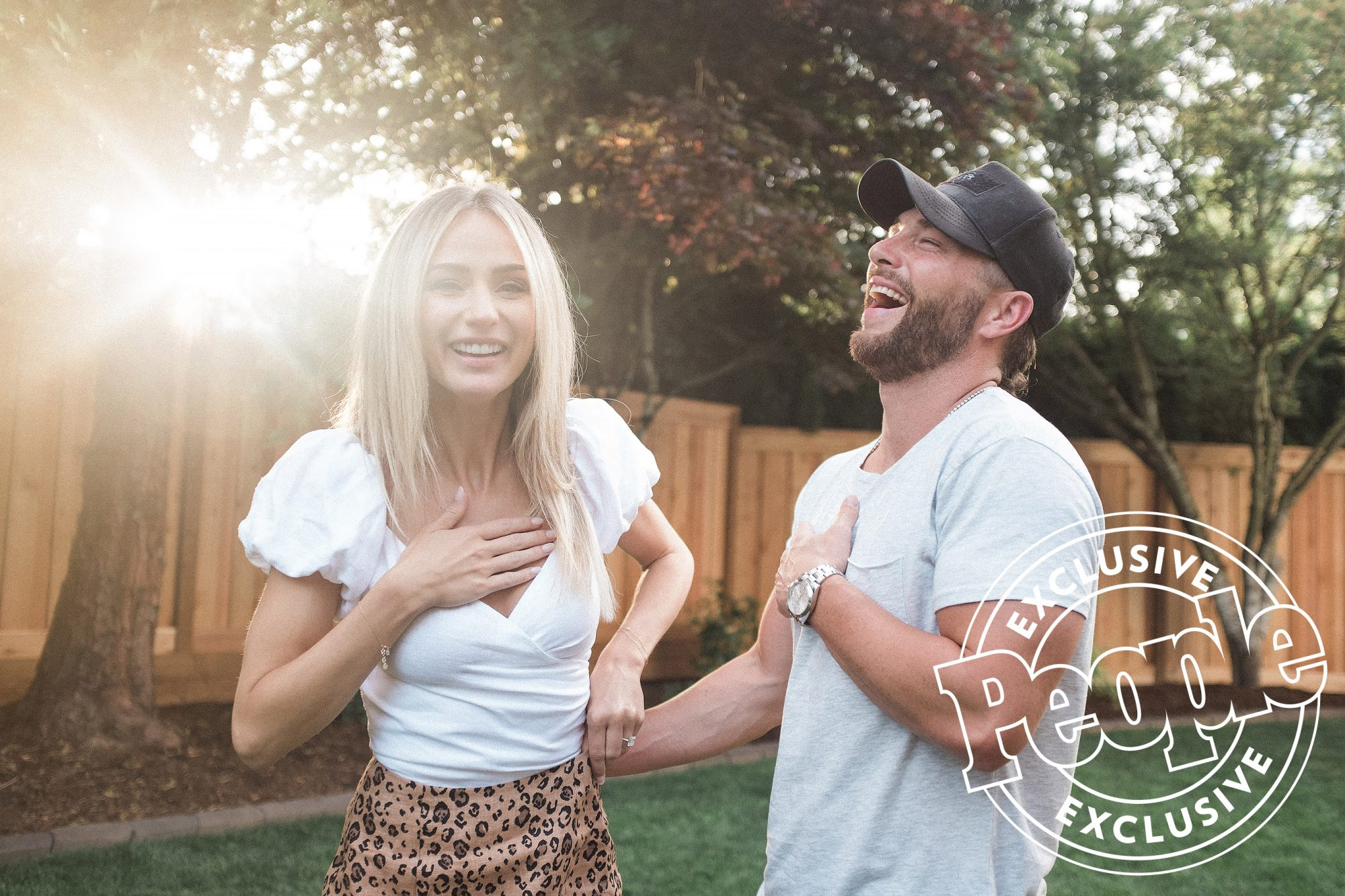 Chris Lane and Lauren Bushnell Engagement