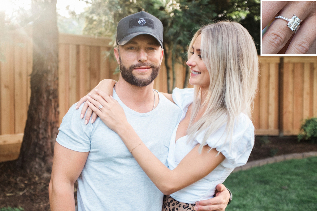Chris Lane + Lauren Bushnell engagement