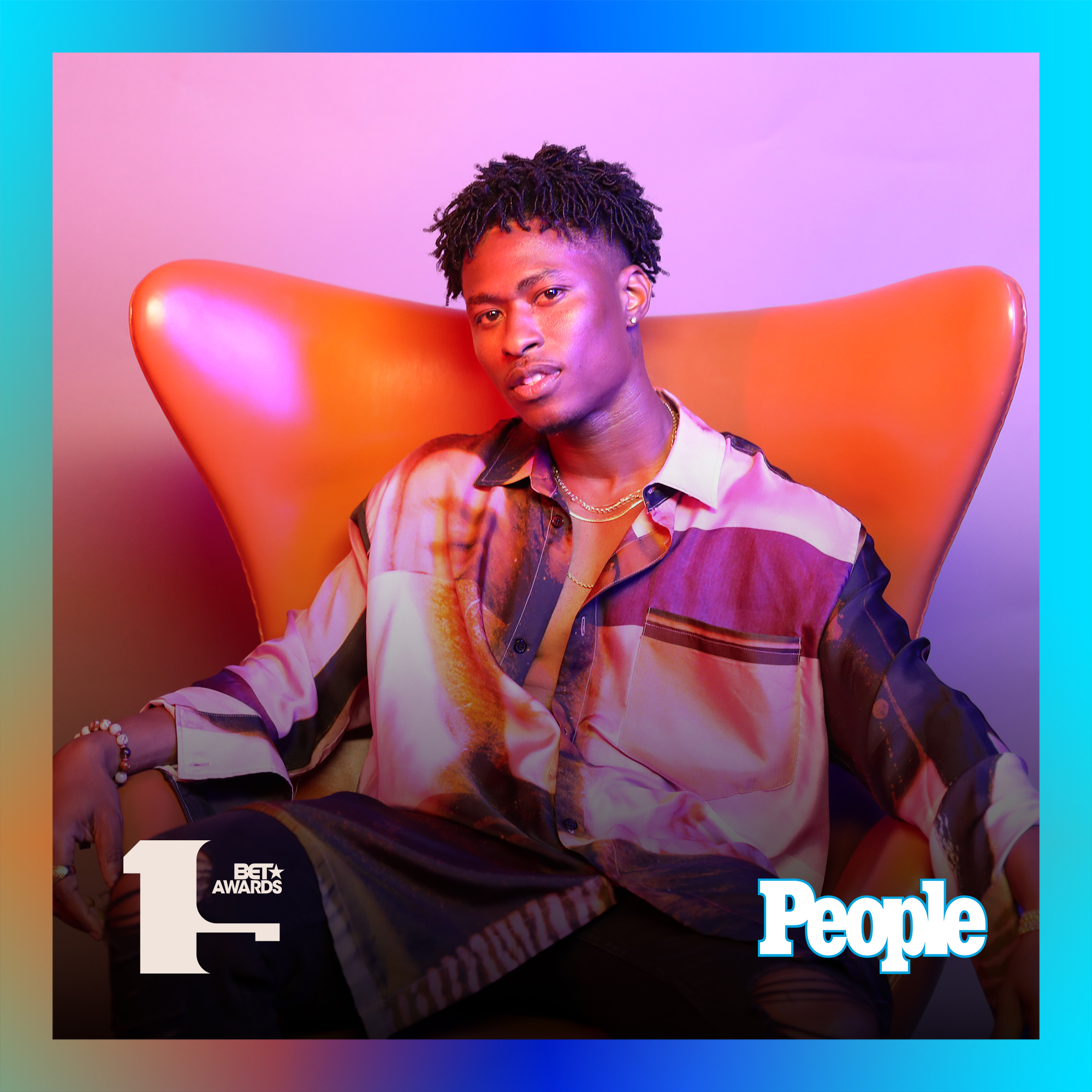 Lucky Daye photographed at the 2019 BET Awards by Bennett Raglin exclusively for PEOPLE Credit: Bennett Raglin