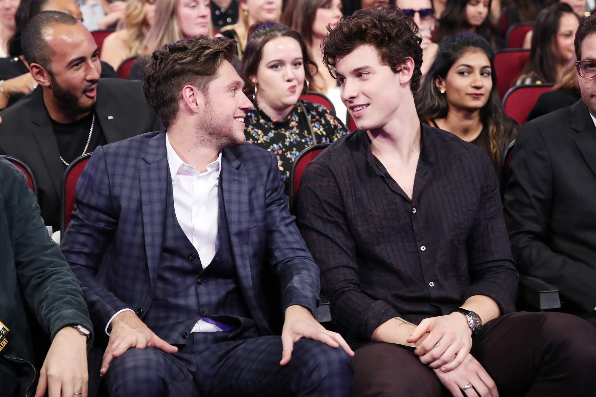 Niall Horan (L) and Shawn Mendes