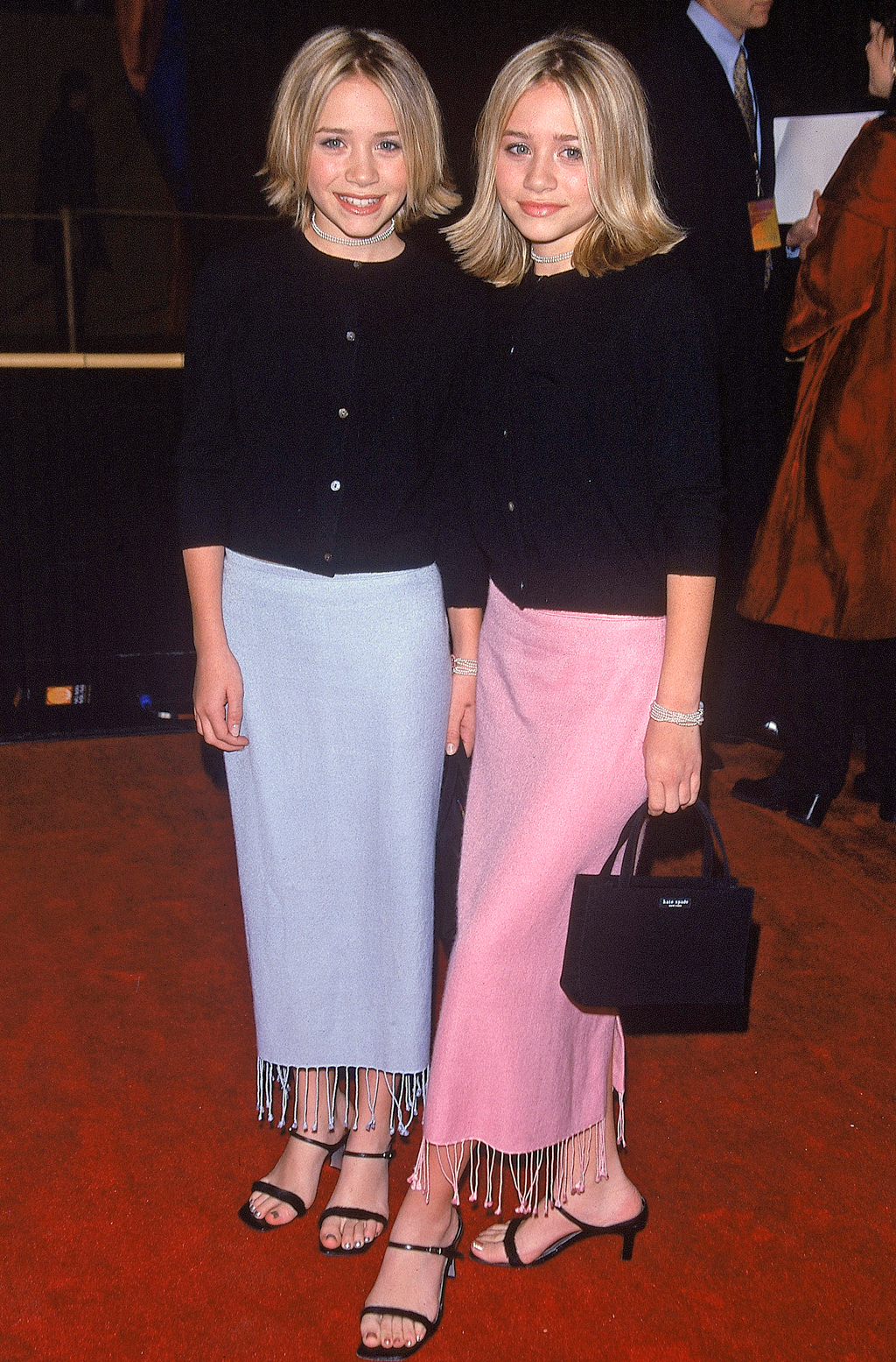 Twin actresses Mary Kate and Ashley Olsen at the f