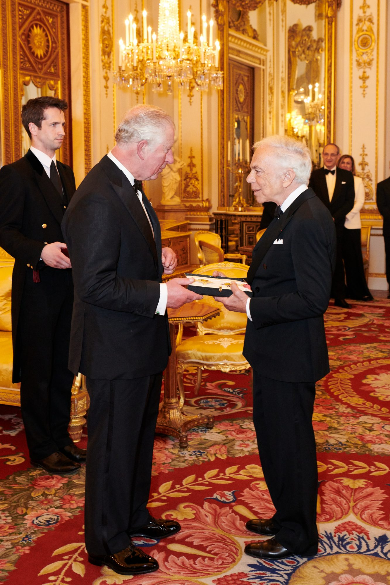 Ralph Lauren receives honorary KBE from Prince Charles