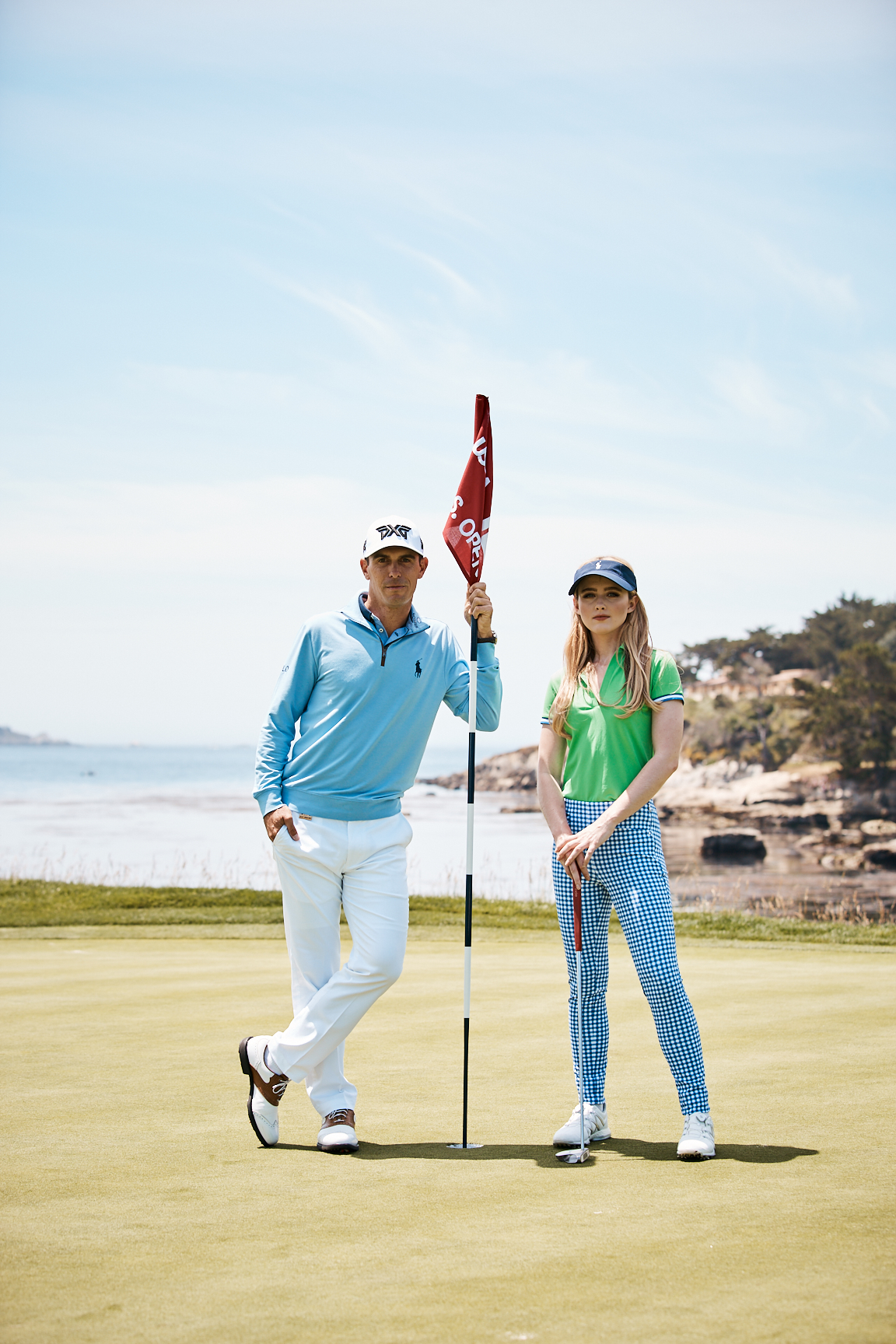 Kathryn Newton and Billy Horschel Photographed by Weston Wells for Ralph Lauren