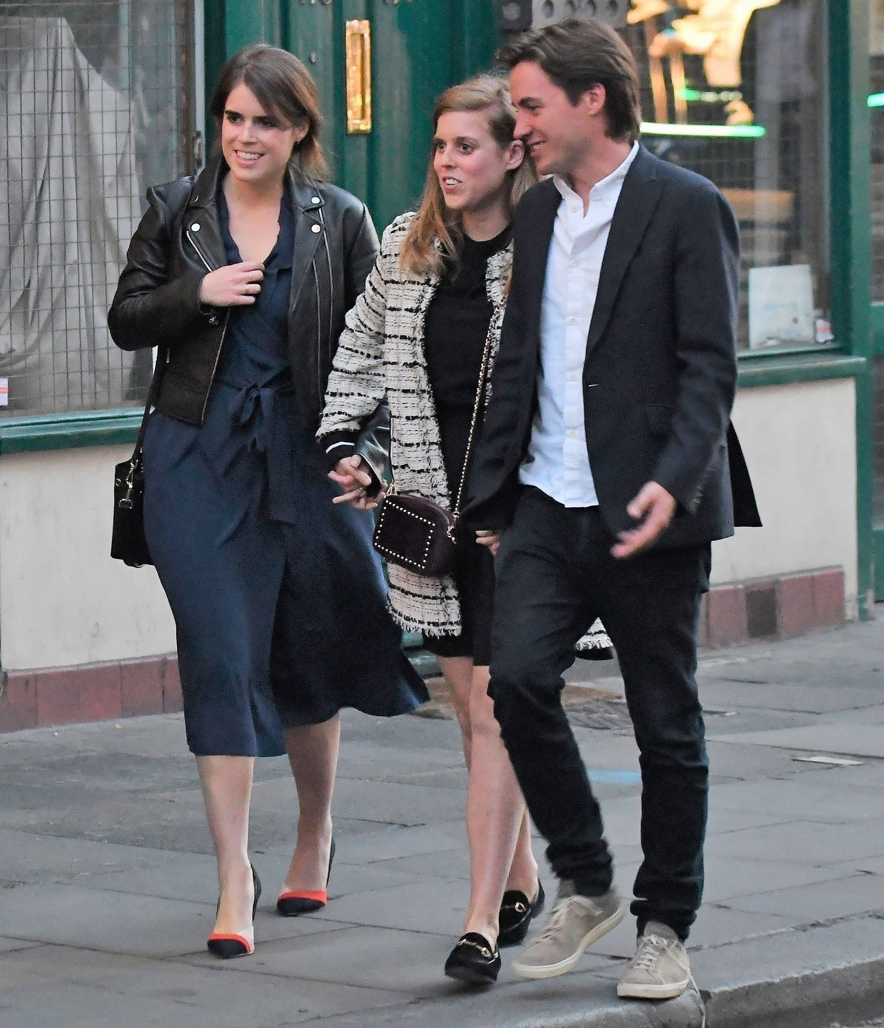 *EXCLUSIVE* Royal Double Date! Princess Eugenie & Beatrice enjoy a night out  with their partners - ** WEB MUST CALL FOR PRICING **