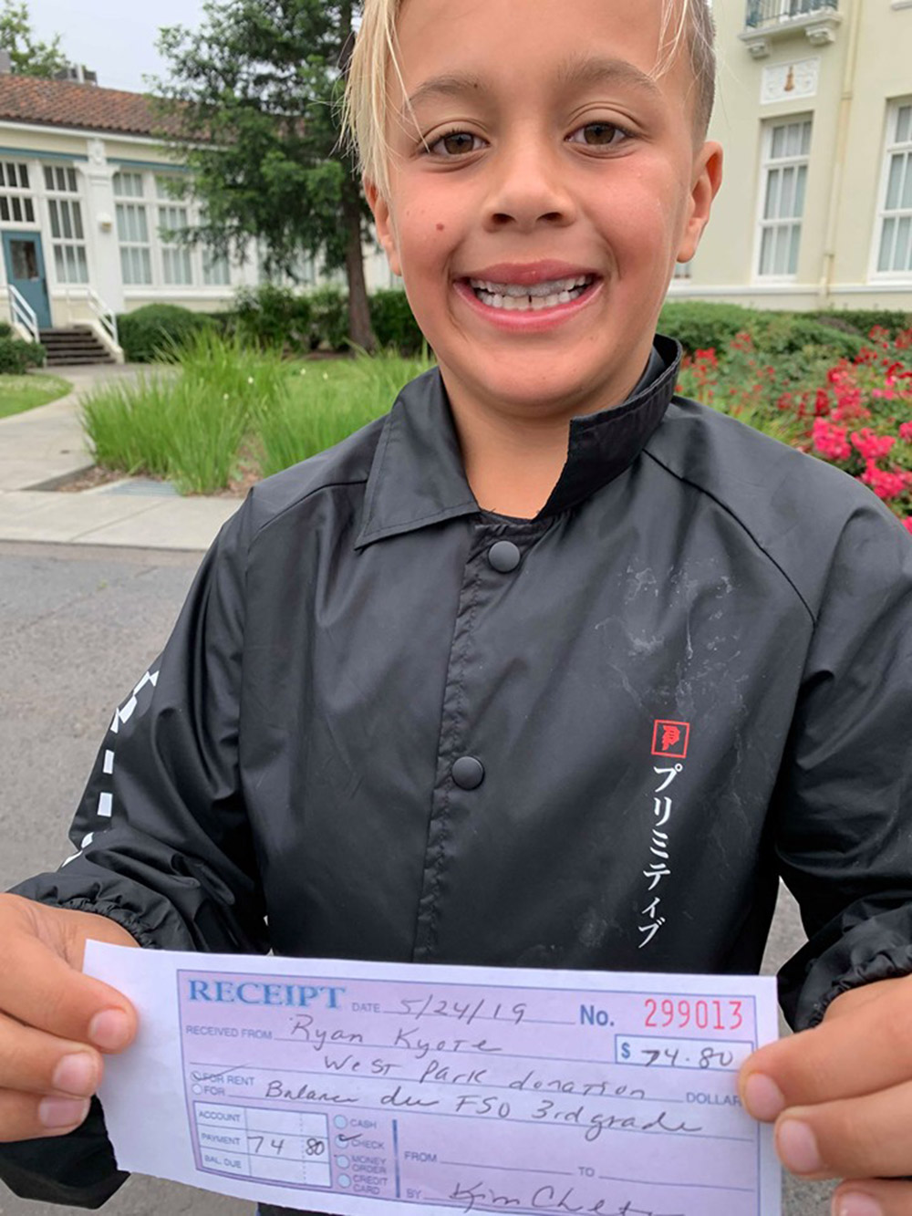 Ryan Kyote used his allowance to pay off the lunch debt for his third-grade classmates at West Park Elementary in Napa, California.