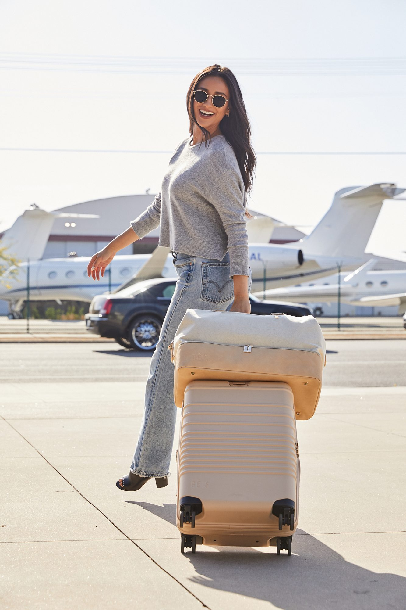 Shay Mitchell BEIS Luggage