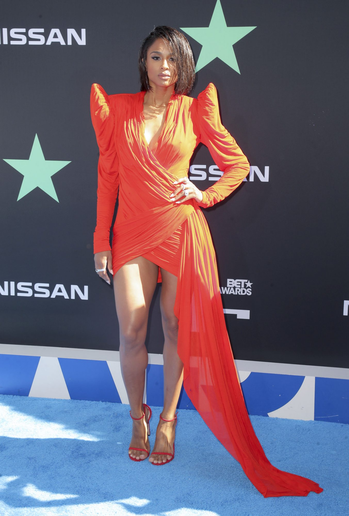 Mandatory Credit: Photo by Chelsea Lauren/Shutterstock (10317961kf) Ciara BET Awards, Arrivals, Microsoft Theater, Los Angeles, USA - 23 Jun 2019