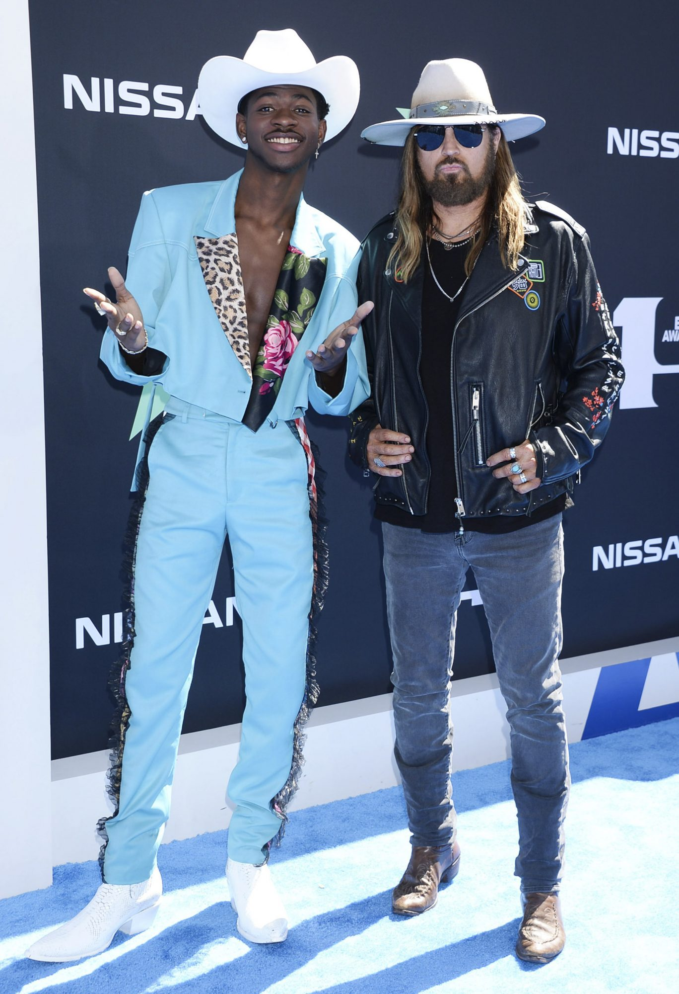 Mandatory Credit: Photo by Broadimage/Shutterstock (10319976cd) Lil Nas X and Billy Ray Cyrus BET Awards, Arrivals, Microsoft Theater, Los Angeles, USA - 23 Jun 2019